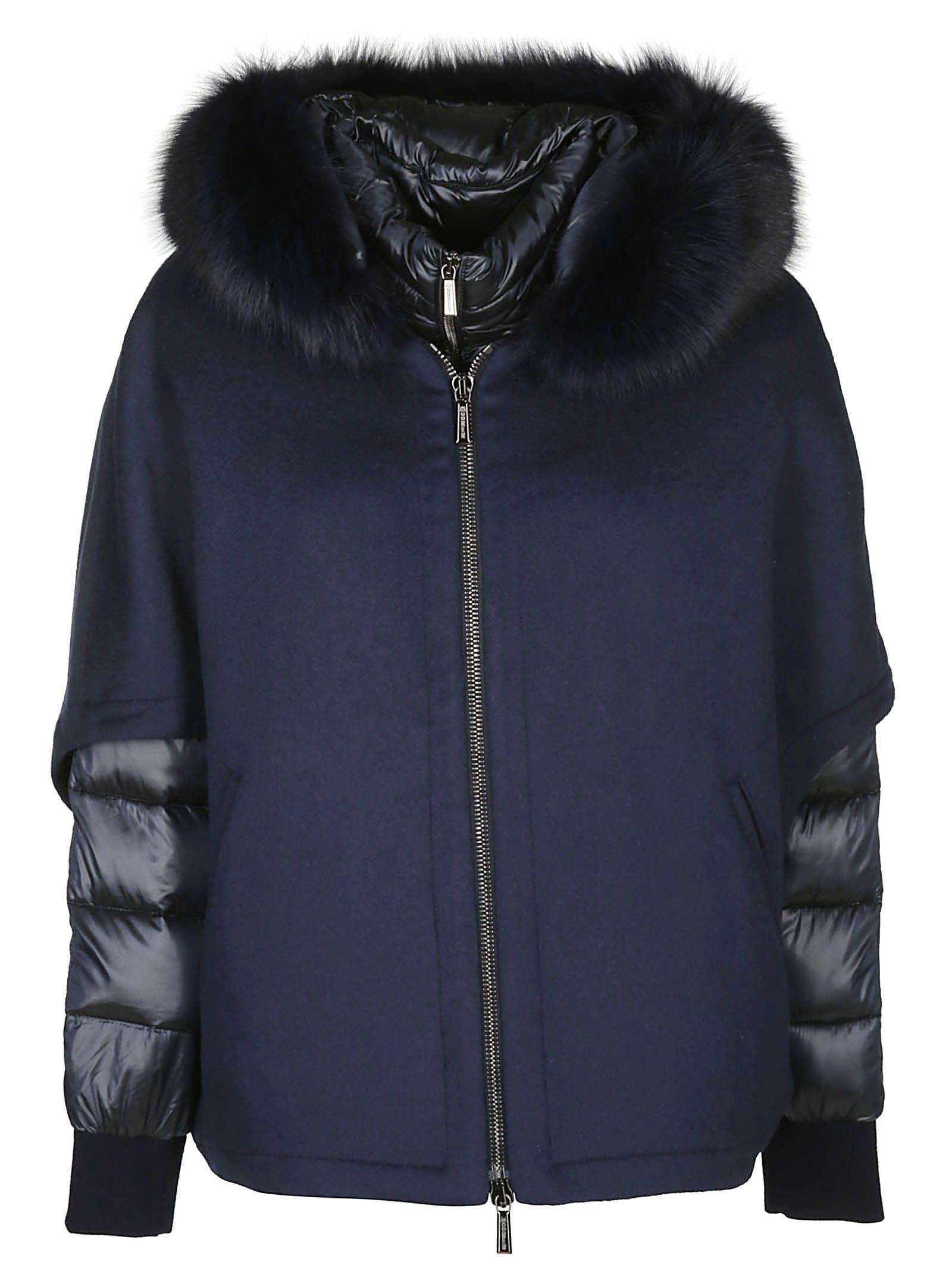 Moorer Contrast Puffer Jacket