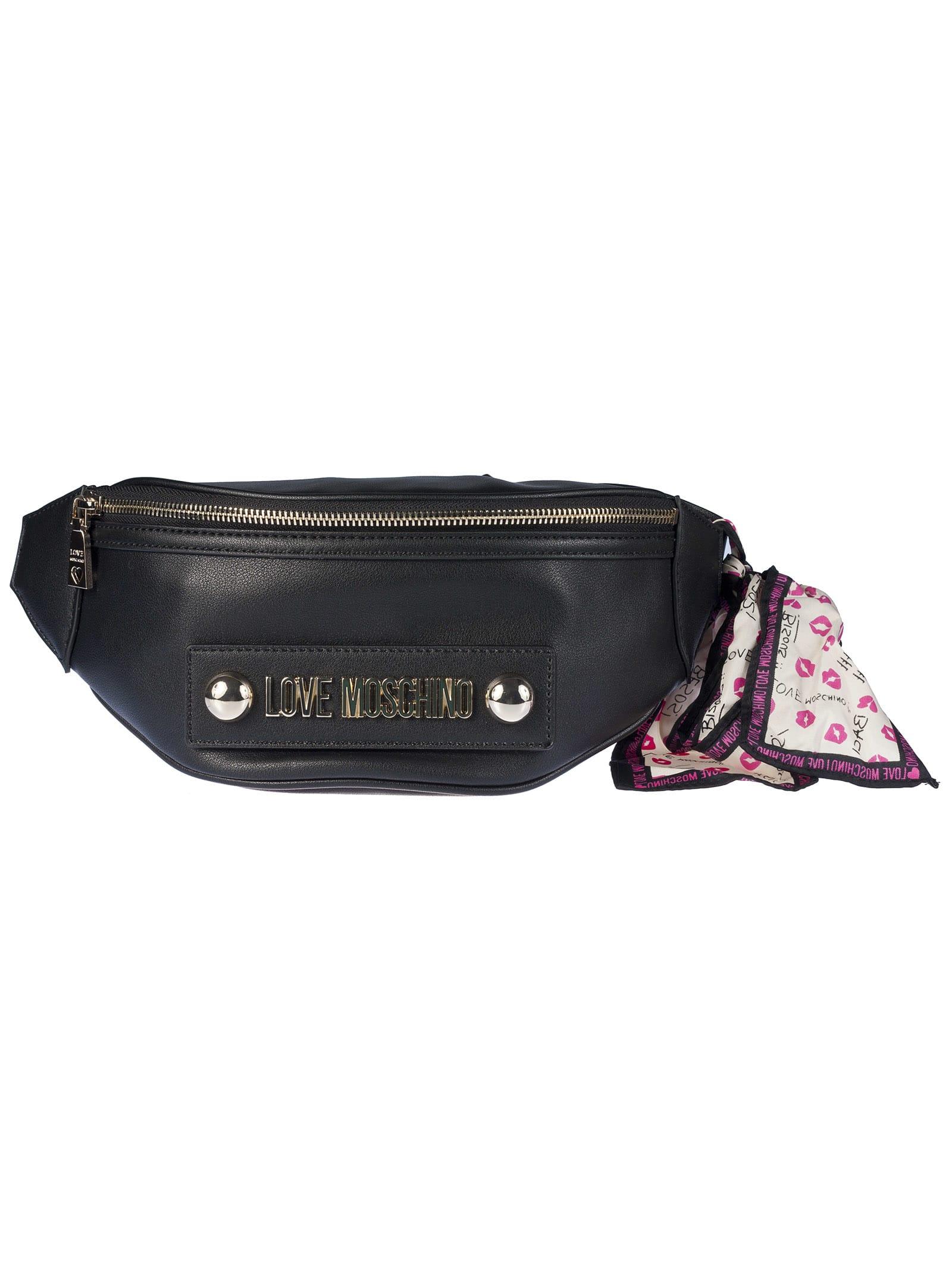 1687e138a8f Love Moschino Logo Plaque Belt Bag