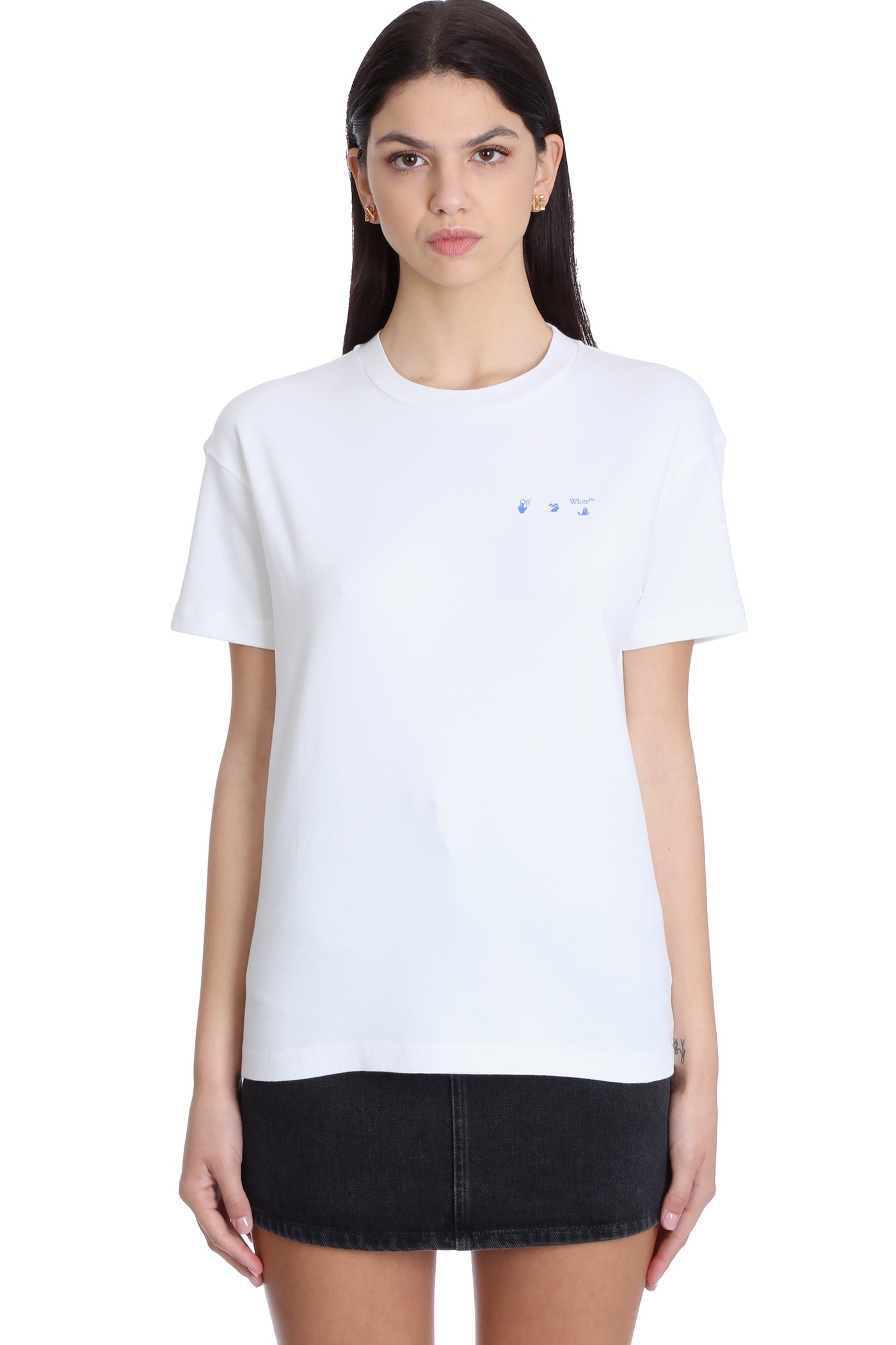 Off-White Cottons T-SHIRT IN WHITE COTTON