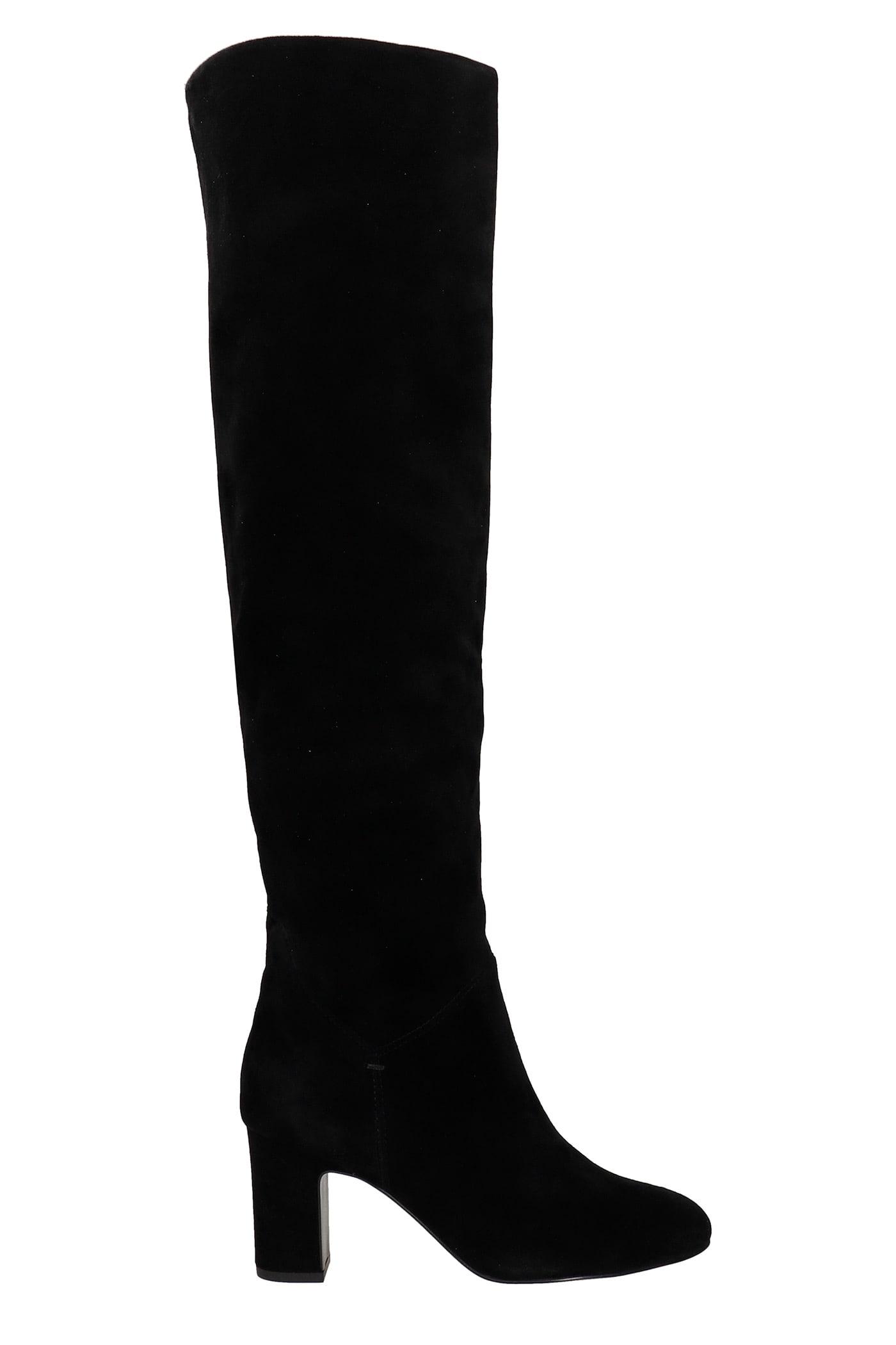 High Heels Boots In Black Suede