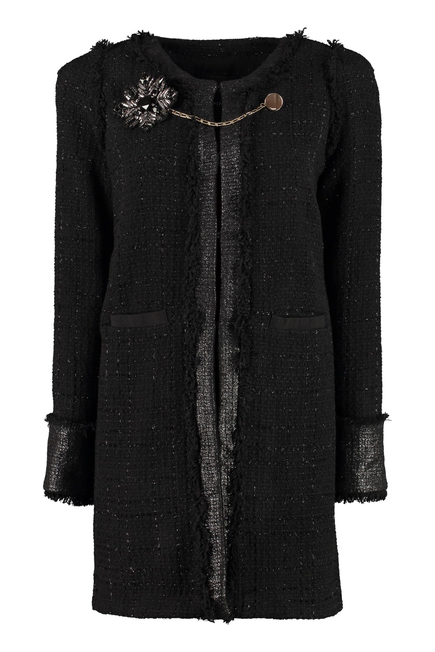 Pinko Marginare Tweed Coat