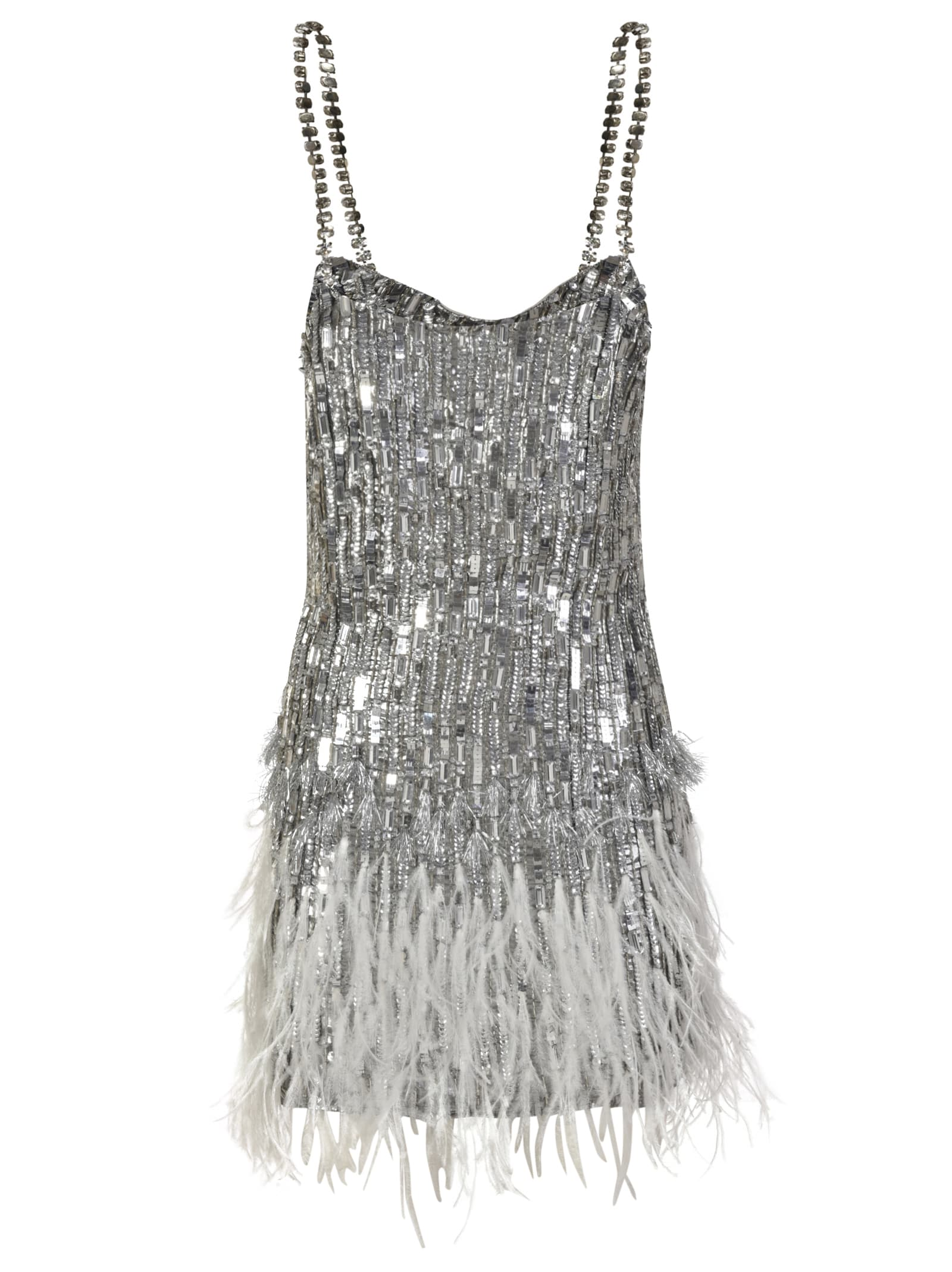 Buy Amen Feather Embroidered Dress online, shop Amen with free shipping