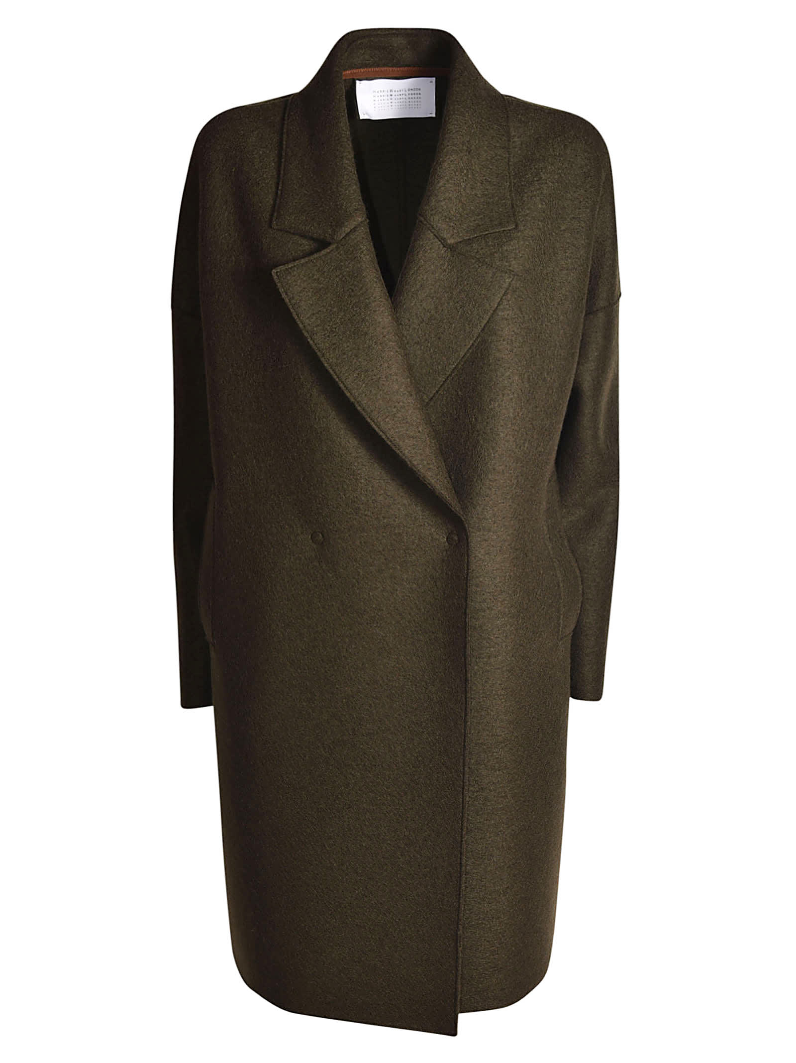 Harris Wharf London Over Fitted Press Coat