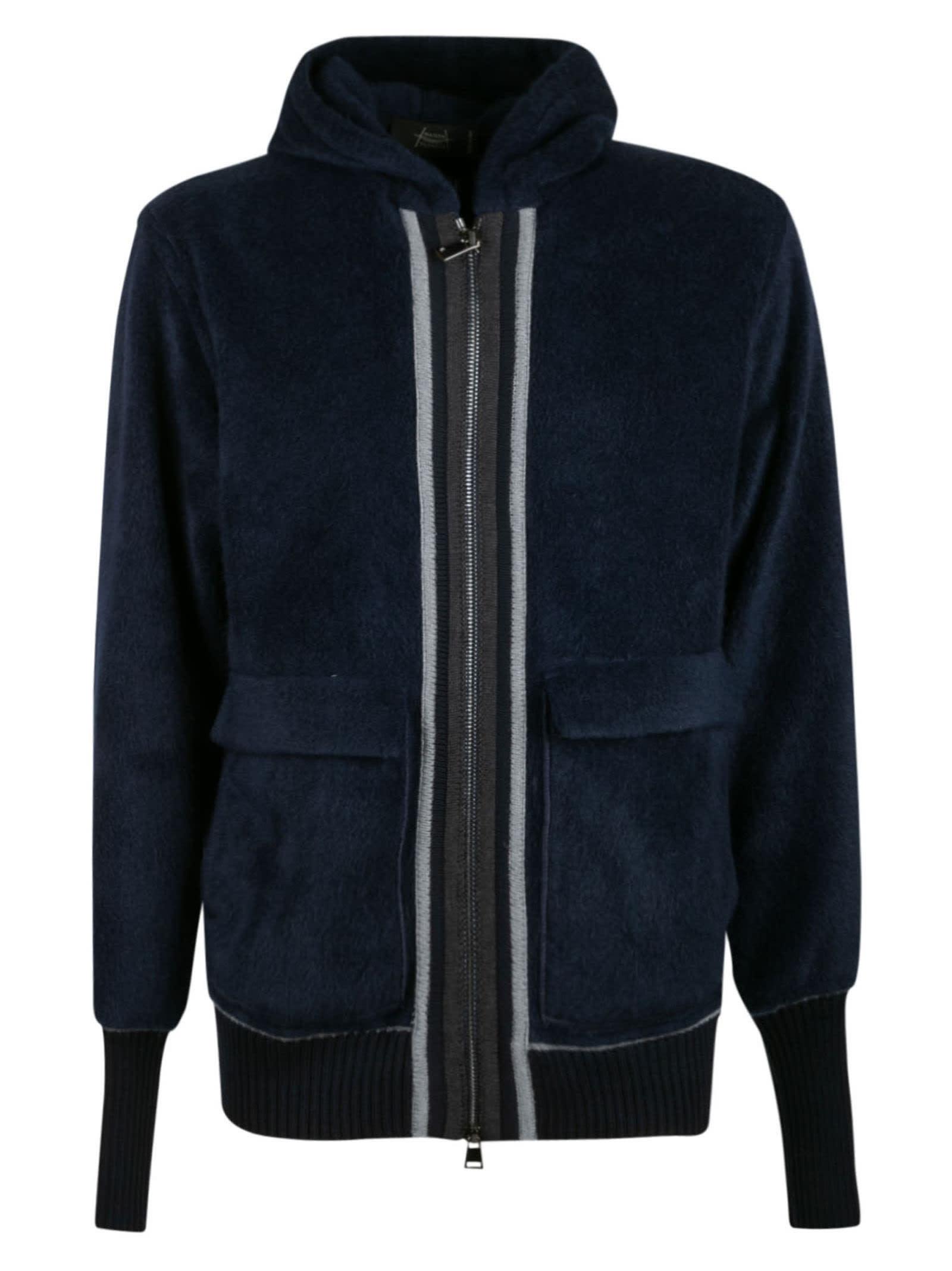 Patch Pocket Hooded Zip Jacket