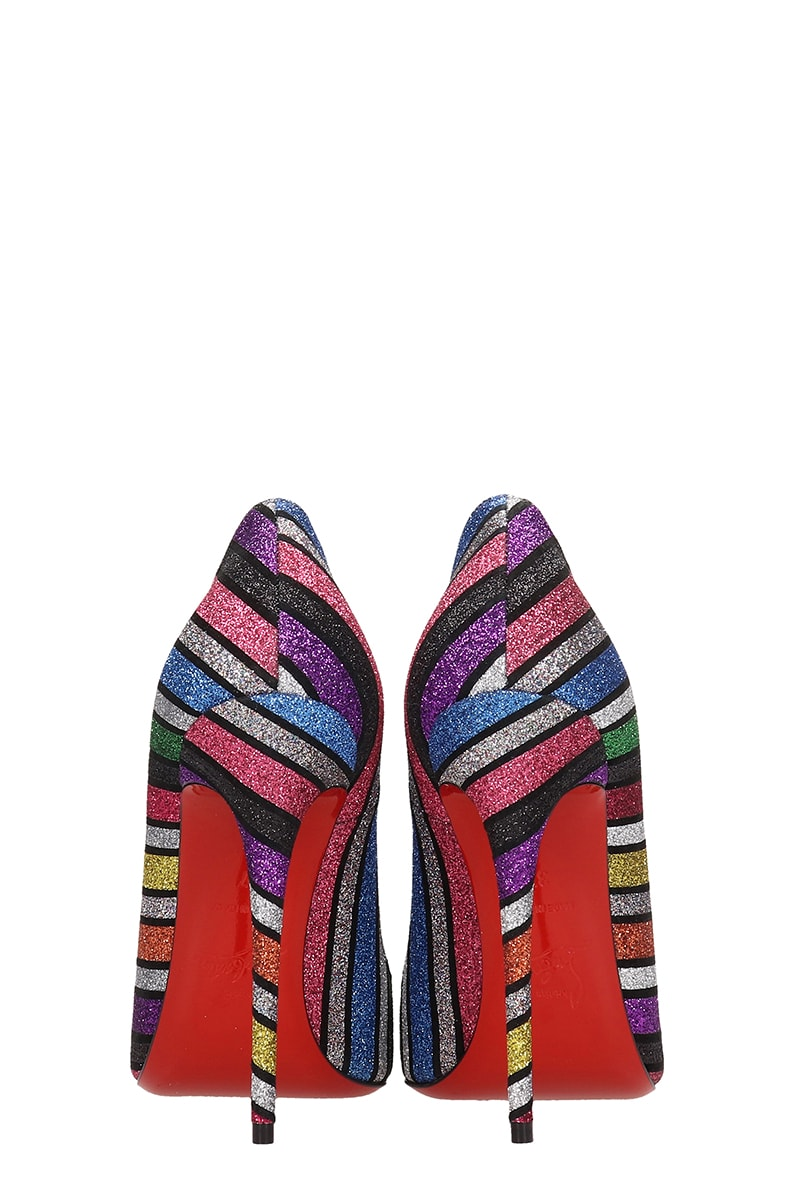 size 40 ae451 37b13 Christian Louboutin So Kate Suede And Striped Sandals