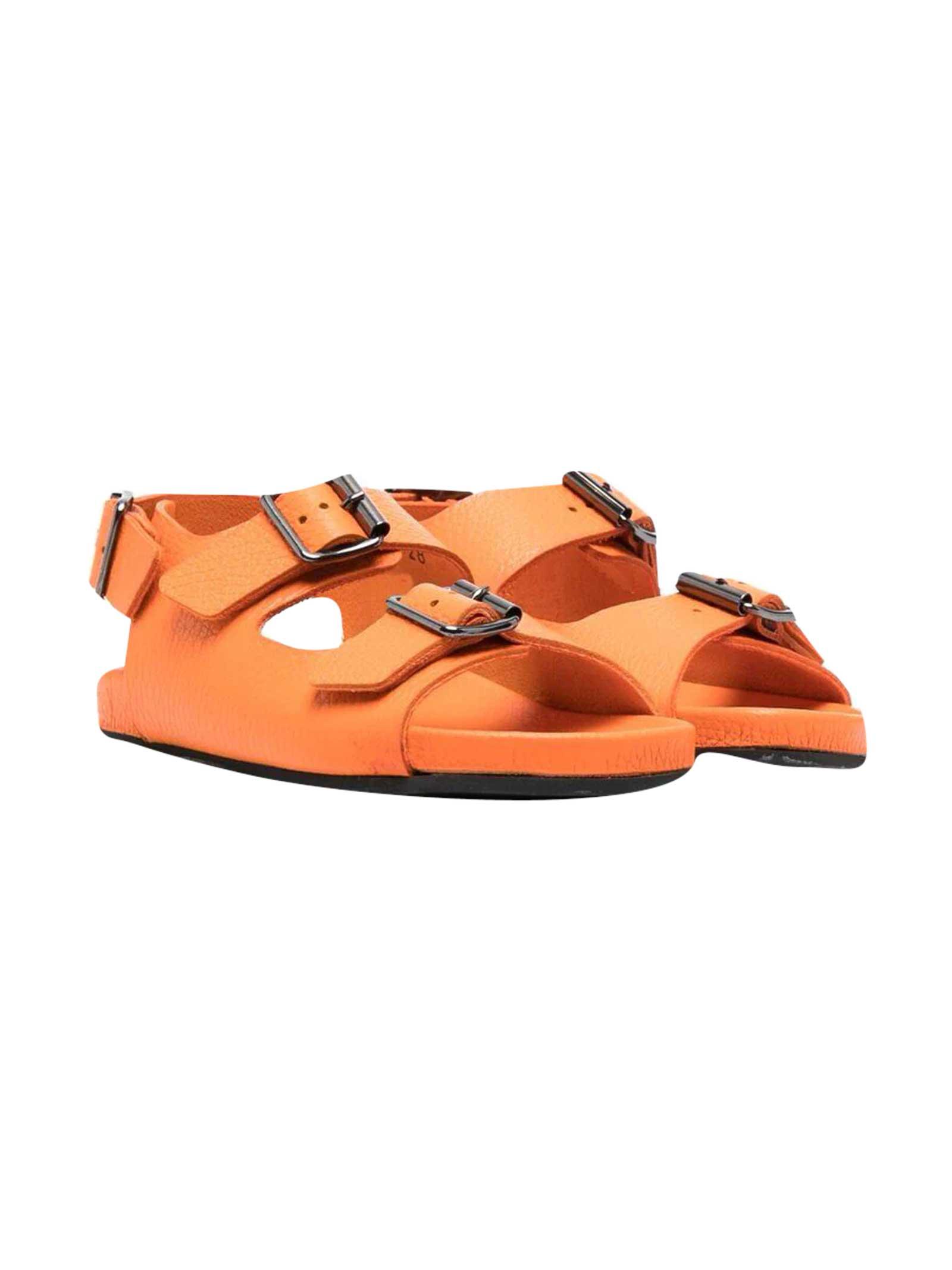 Kids Orange Sandals