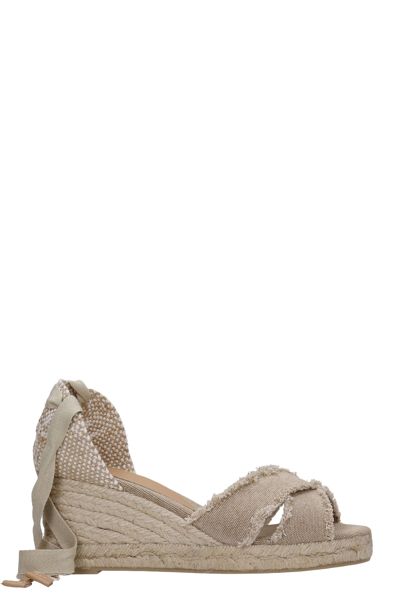 Castaã±er BLUMA WEDGES IN BEIGE CANVAS