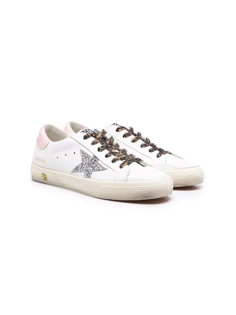 Golden Goose Superstar Sneakers With Glitter Detail