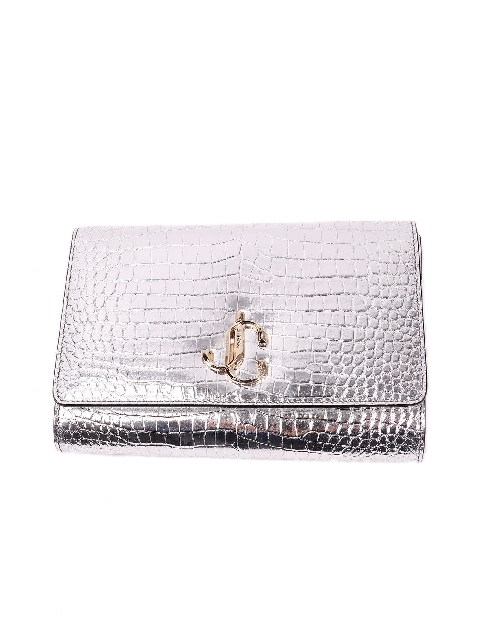 Jimmy Choo Metallic Croc Embossed