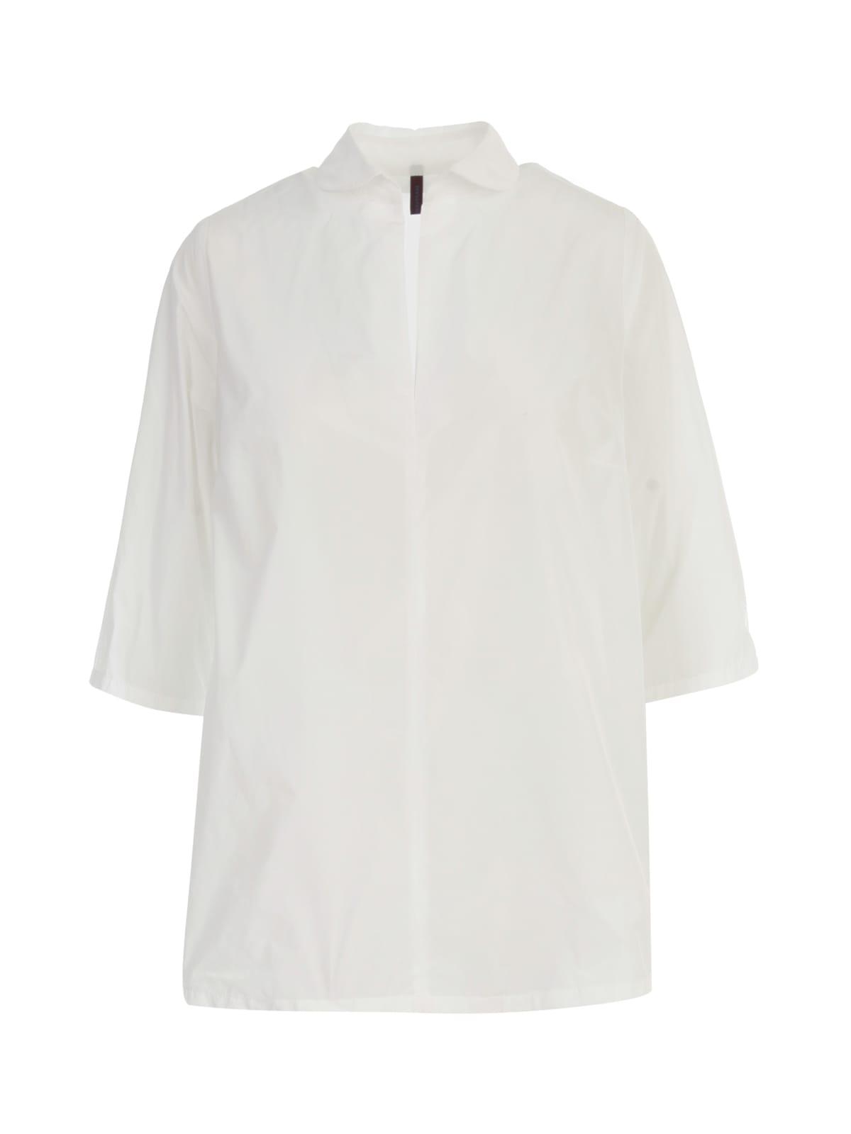 Oversized Open Neck 3/4s Shirt