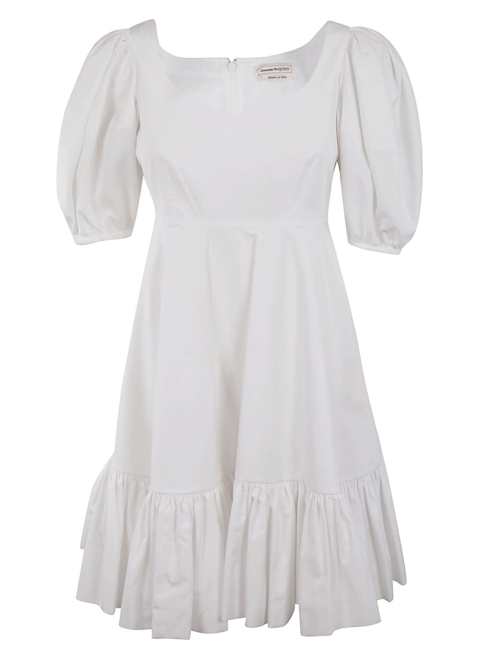 Buy Alexander McQueen Ruffled Skirt Mid-length Dress online, shop Alexander McQueen with free shipping