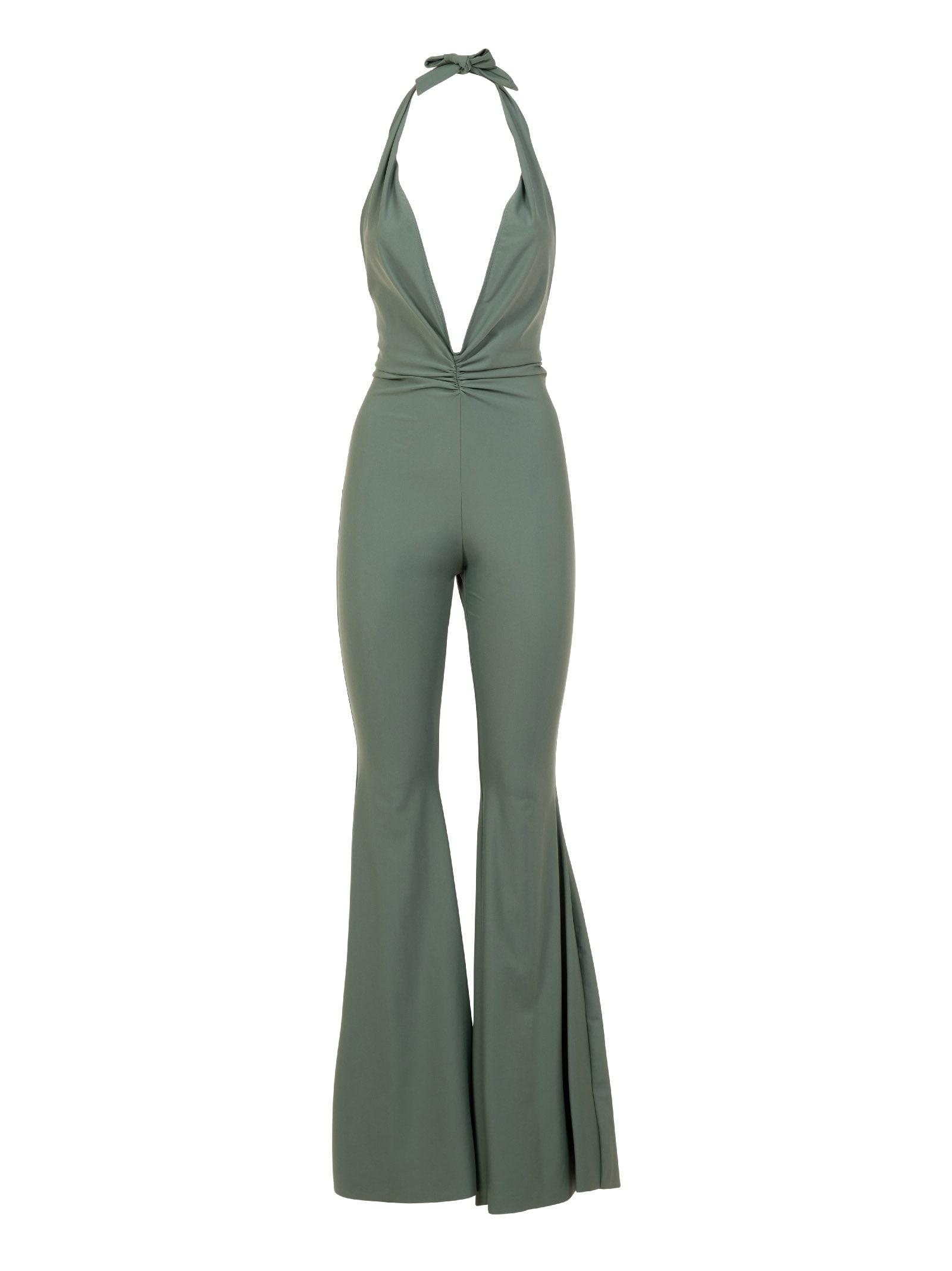 Amen Lycra Jumpsuit With Long Flared Pants