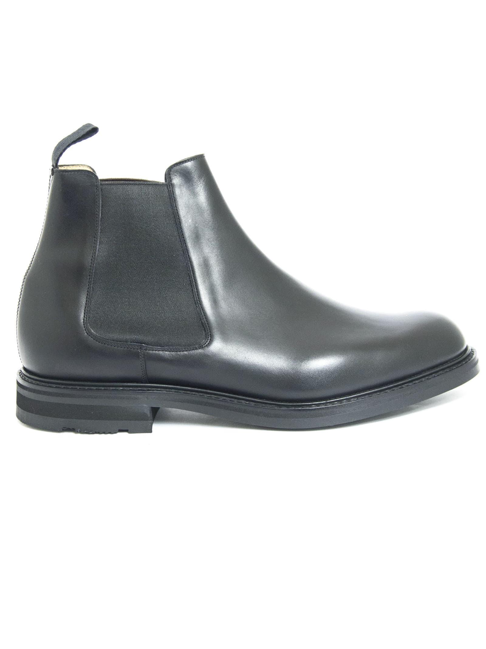 Churchs Welwyn Black Calf Leather Chelsea Boot