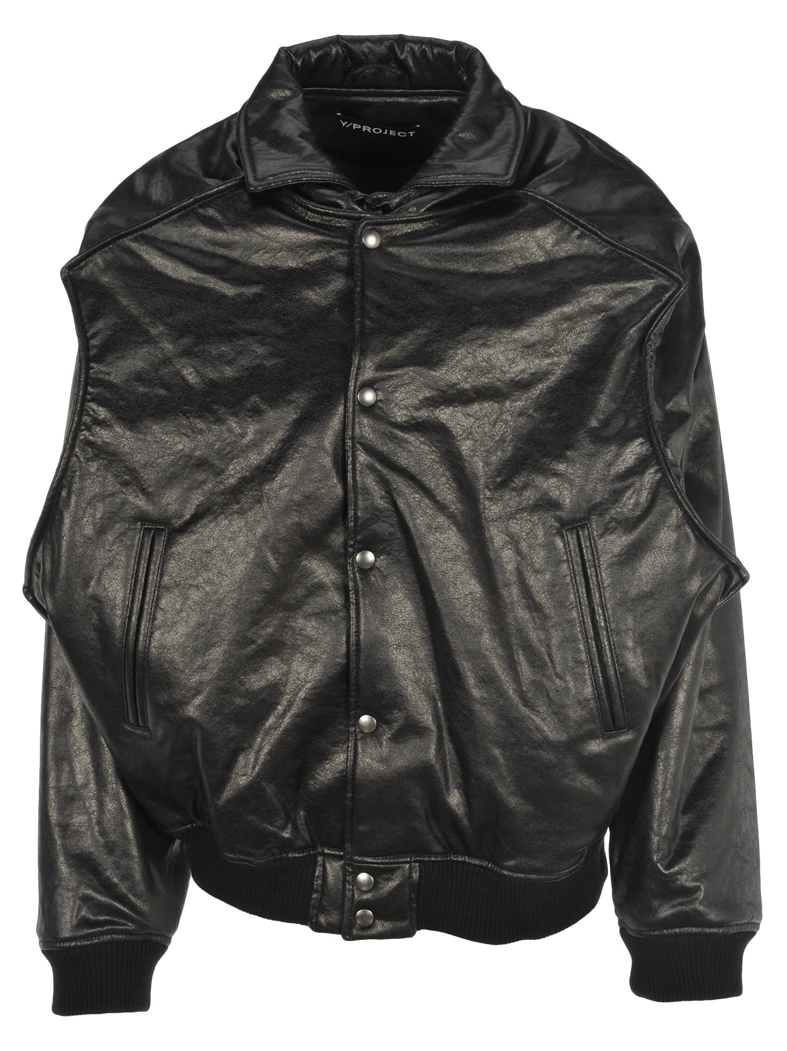 3710da947 Y/project Faux Leather Bomber Jacket