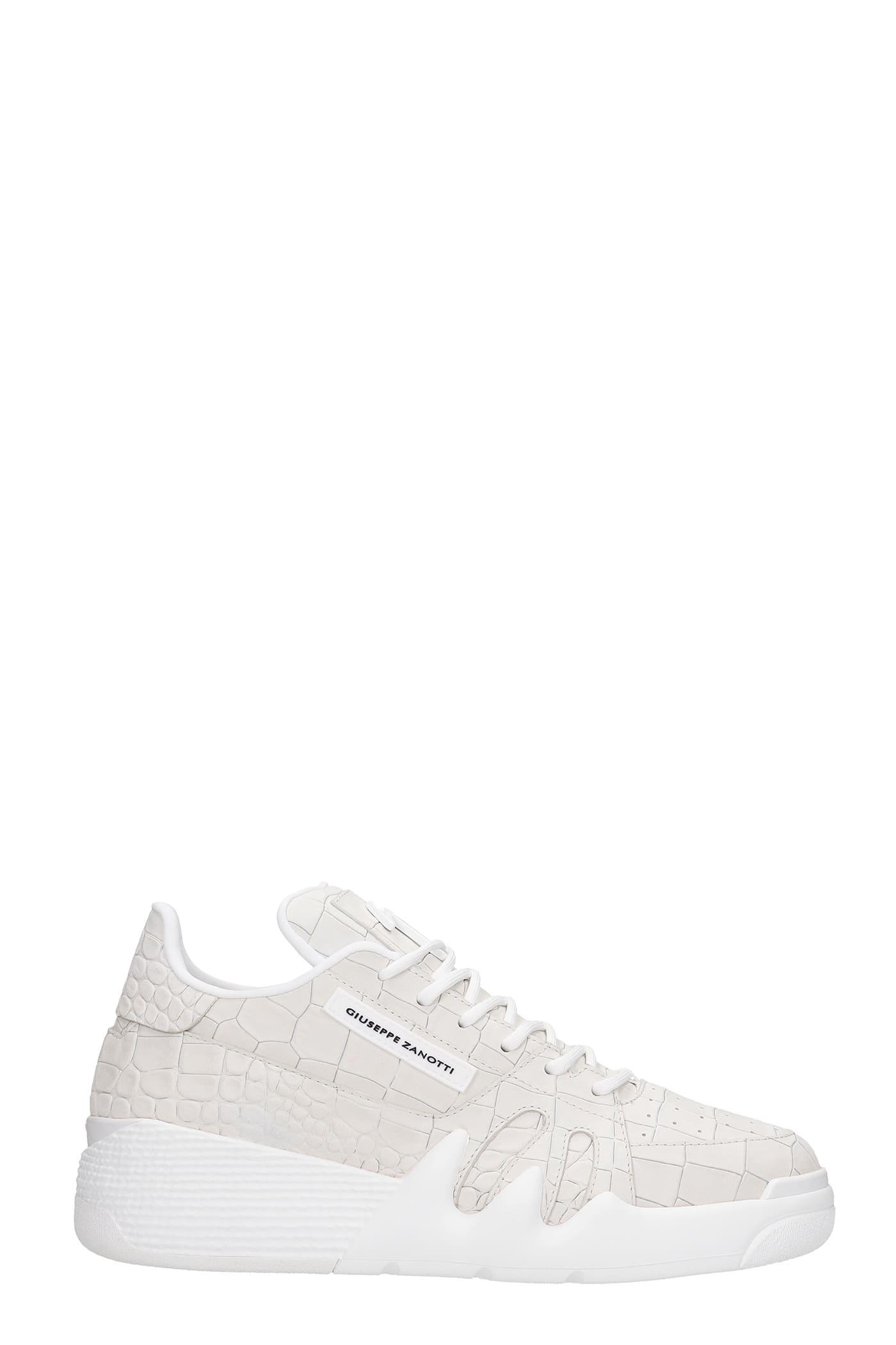 Giuseppe Zanotti Talon Sneakers In White Leather