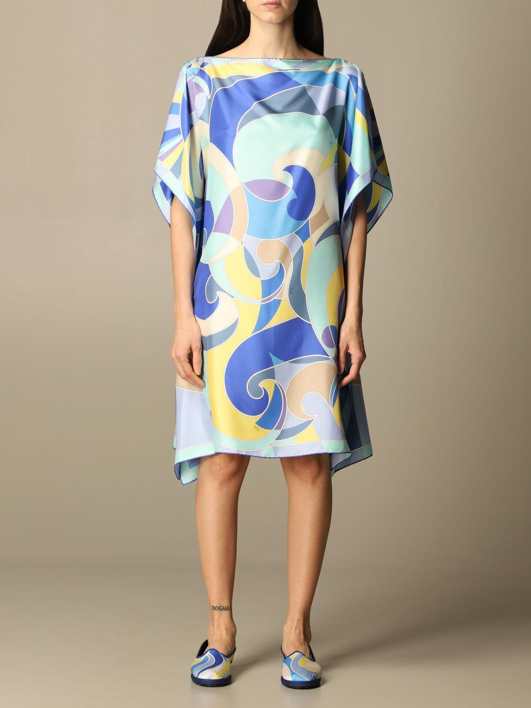 Emilio Pucci Dress Emilio Pucci Foulard Dress In Printed Silk