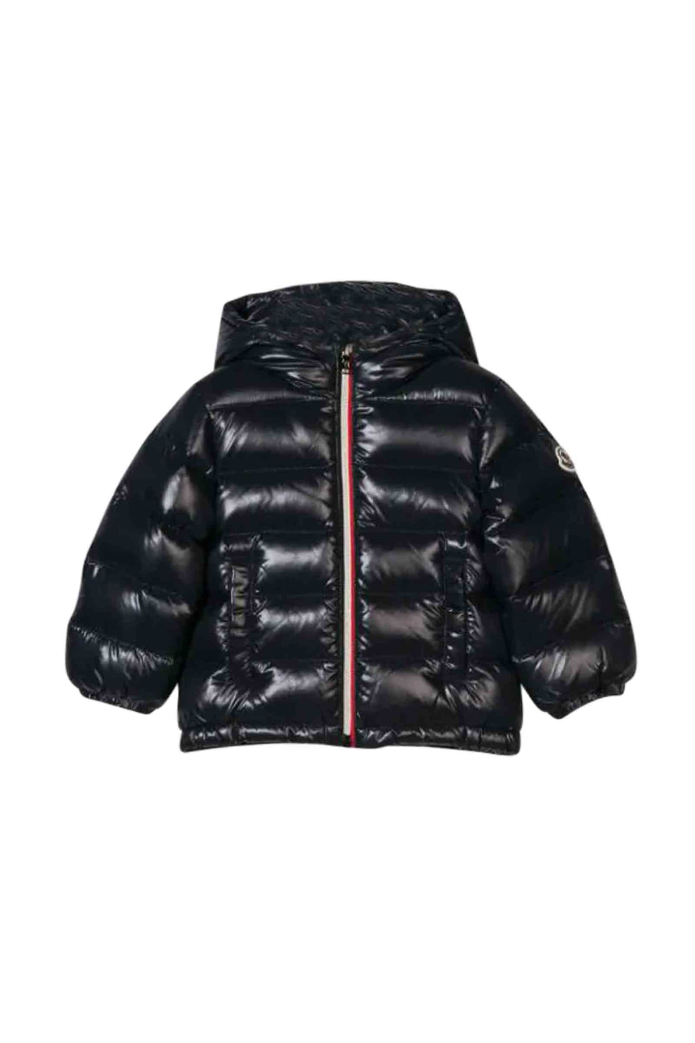 Moncler Babies' Down Jacket With Hood In Blu
