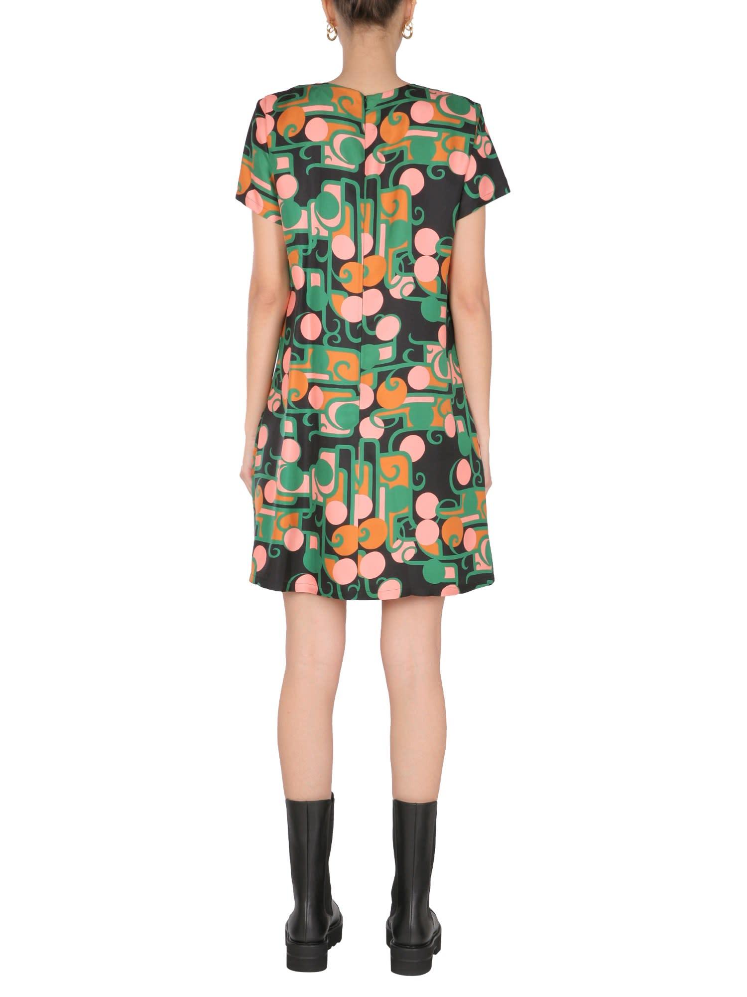 Buy La DoubleJ Mini Flared Dress With Deco Print online, shop La DoubleJ with free shipping