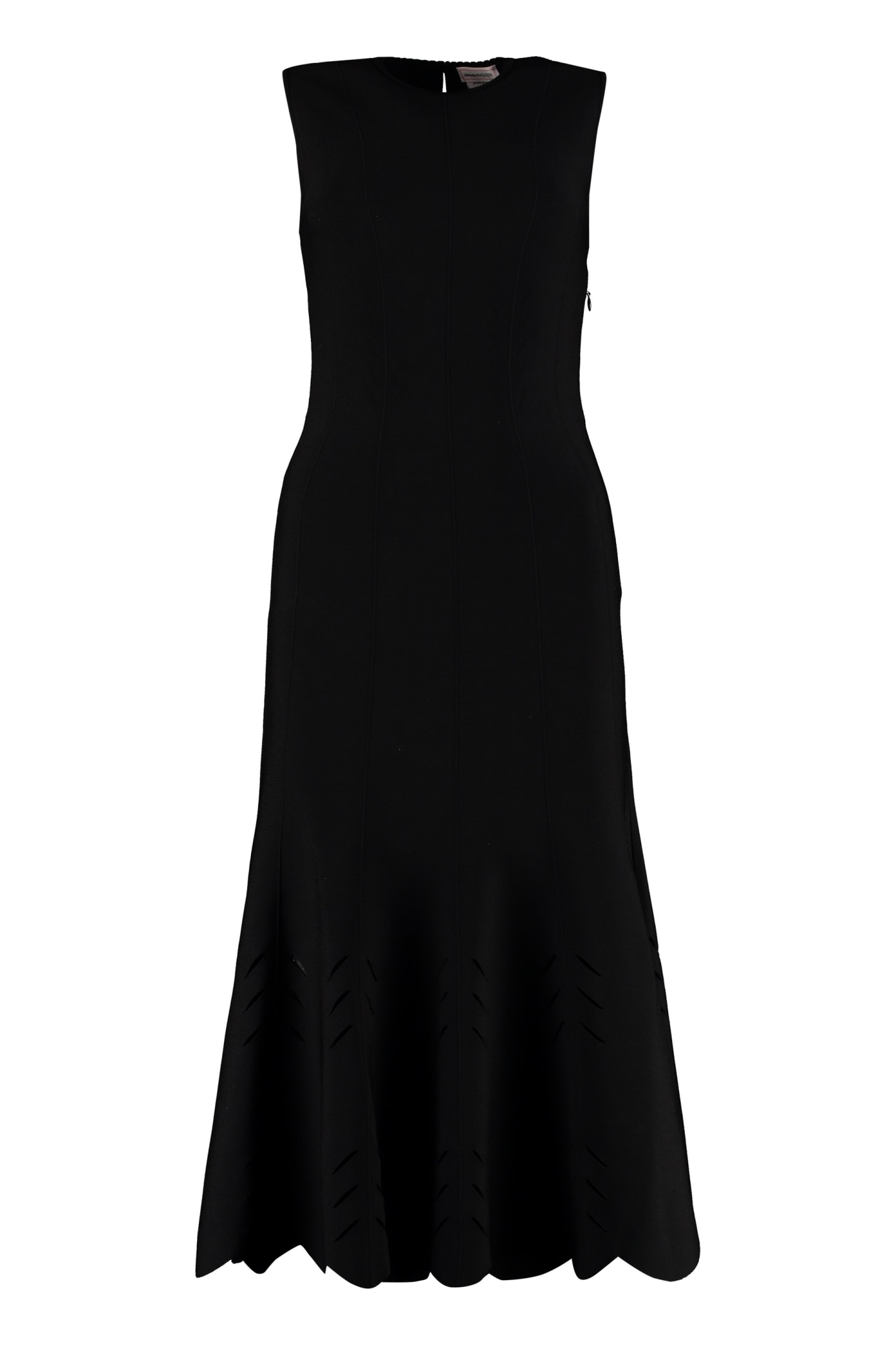 Alexander McQueen Cut-out Detail Knit Dress