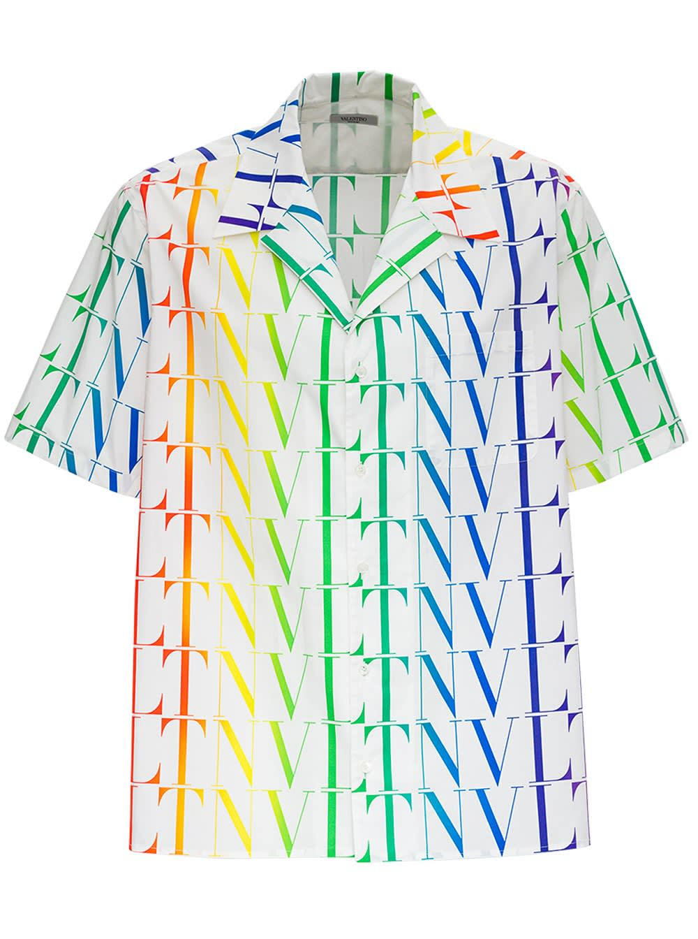 VALENTINO VLTN TIMES MULTICOLOR JERSEY SHIRT