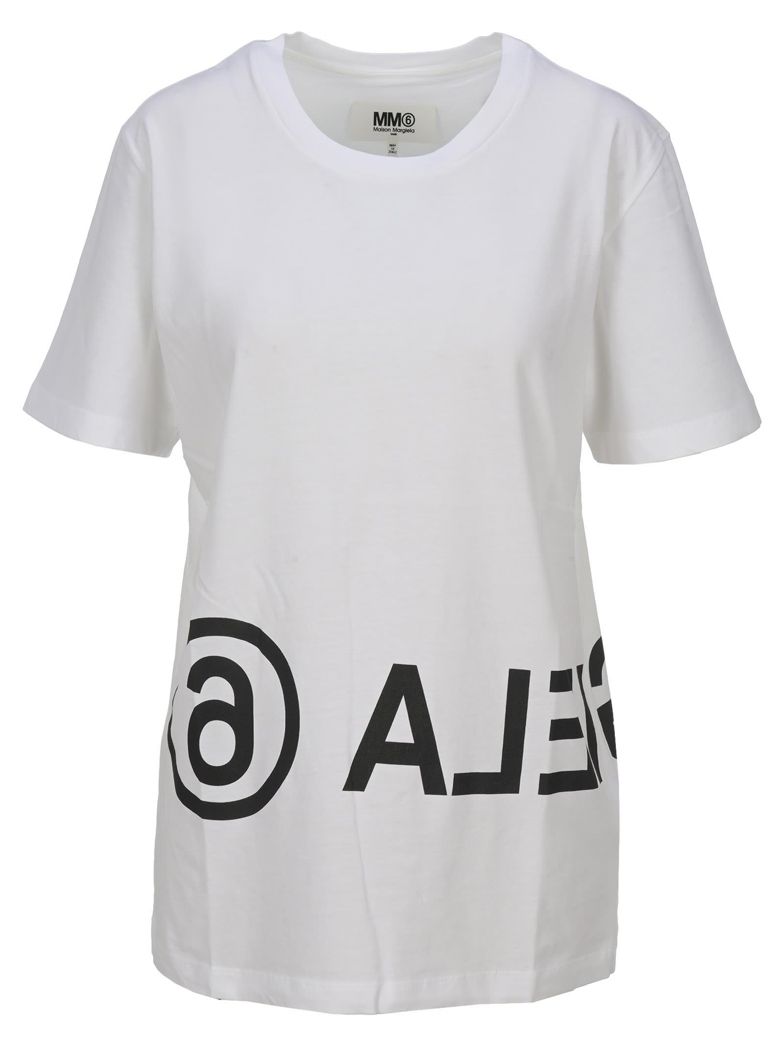 Mm6 Logo Print T-shirt