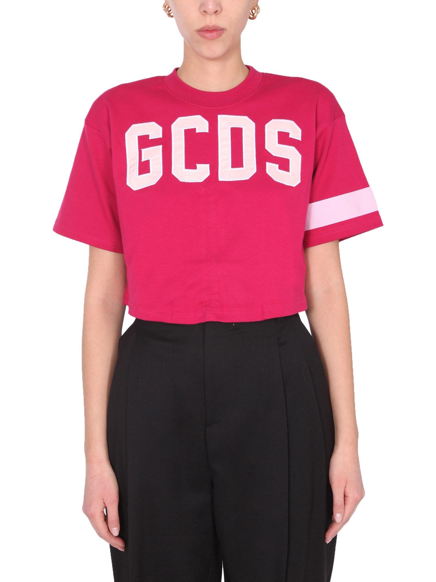 Gcds Cottons CROPPED T-SHIRT