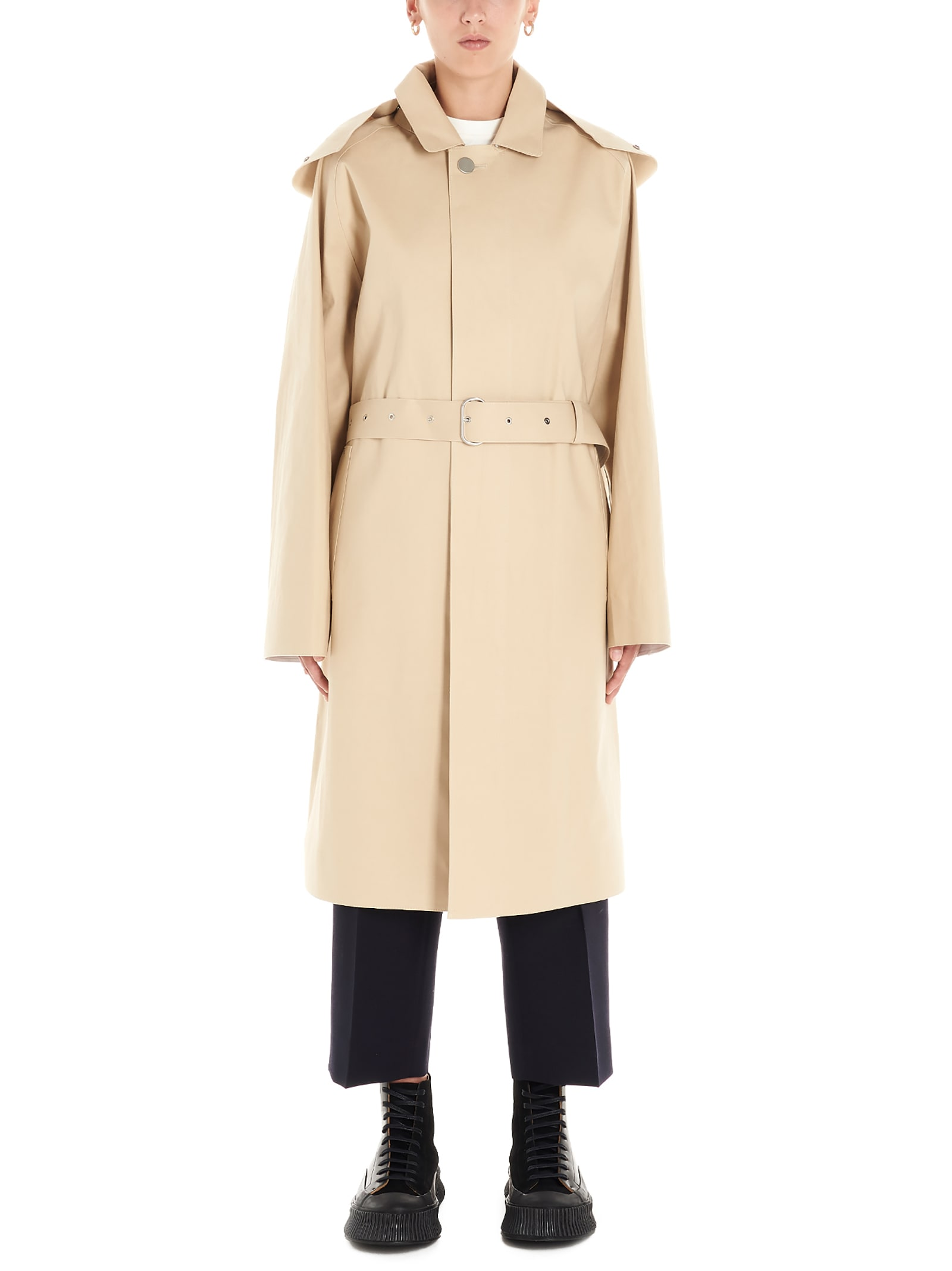 Jil Sander mackintosh Parka
