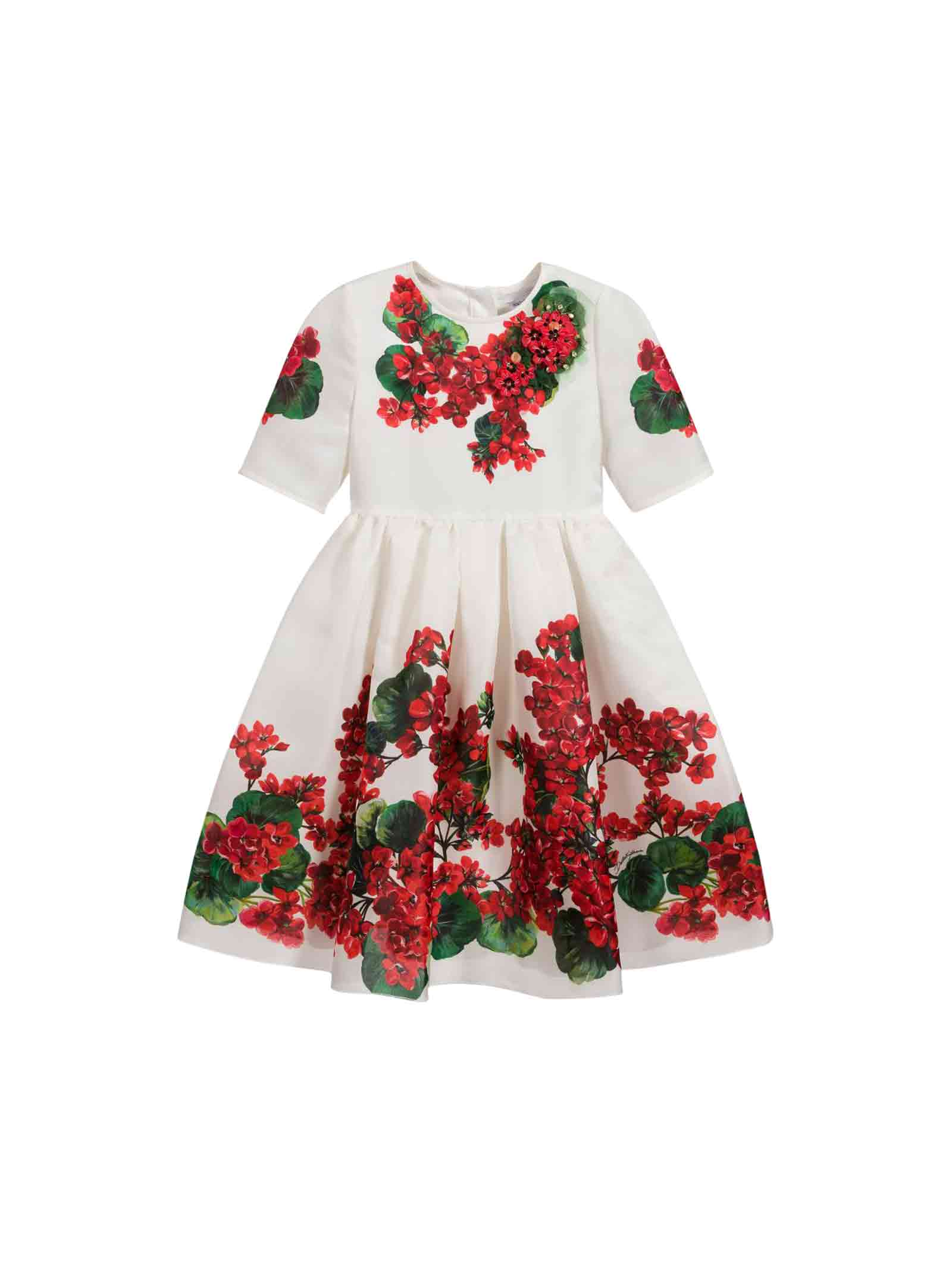 Dolce & Gabbana White Girl Dress Dolce And Gabbana Kids