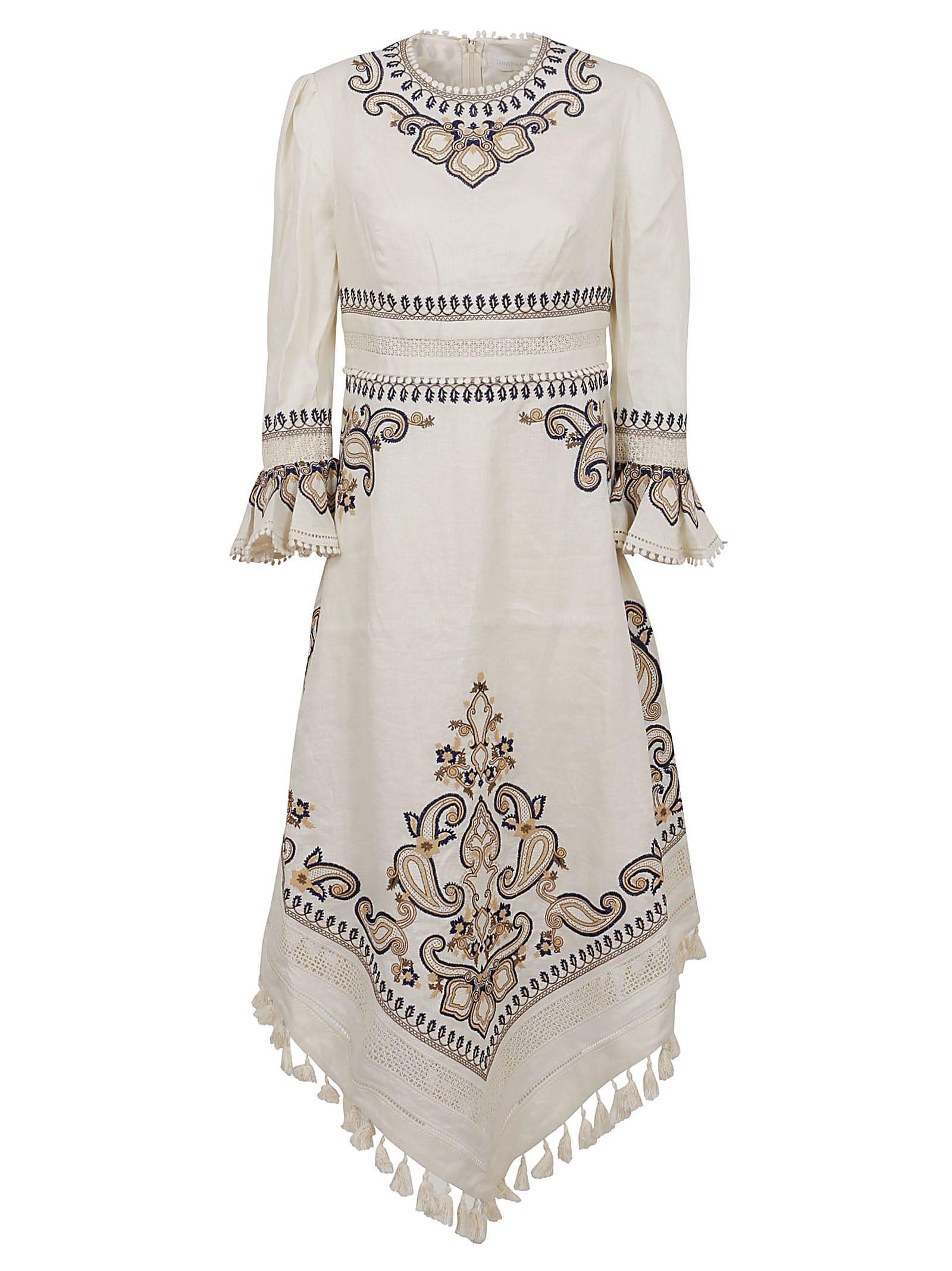 Buy Zimmermann Aliane Paisley Long Dress online, shop Zimmermann with free shipping
