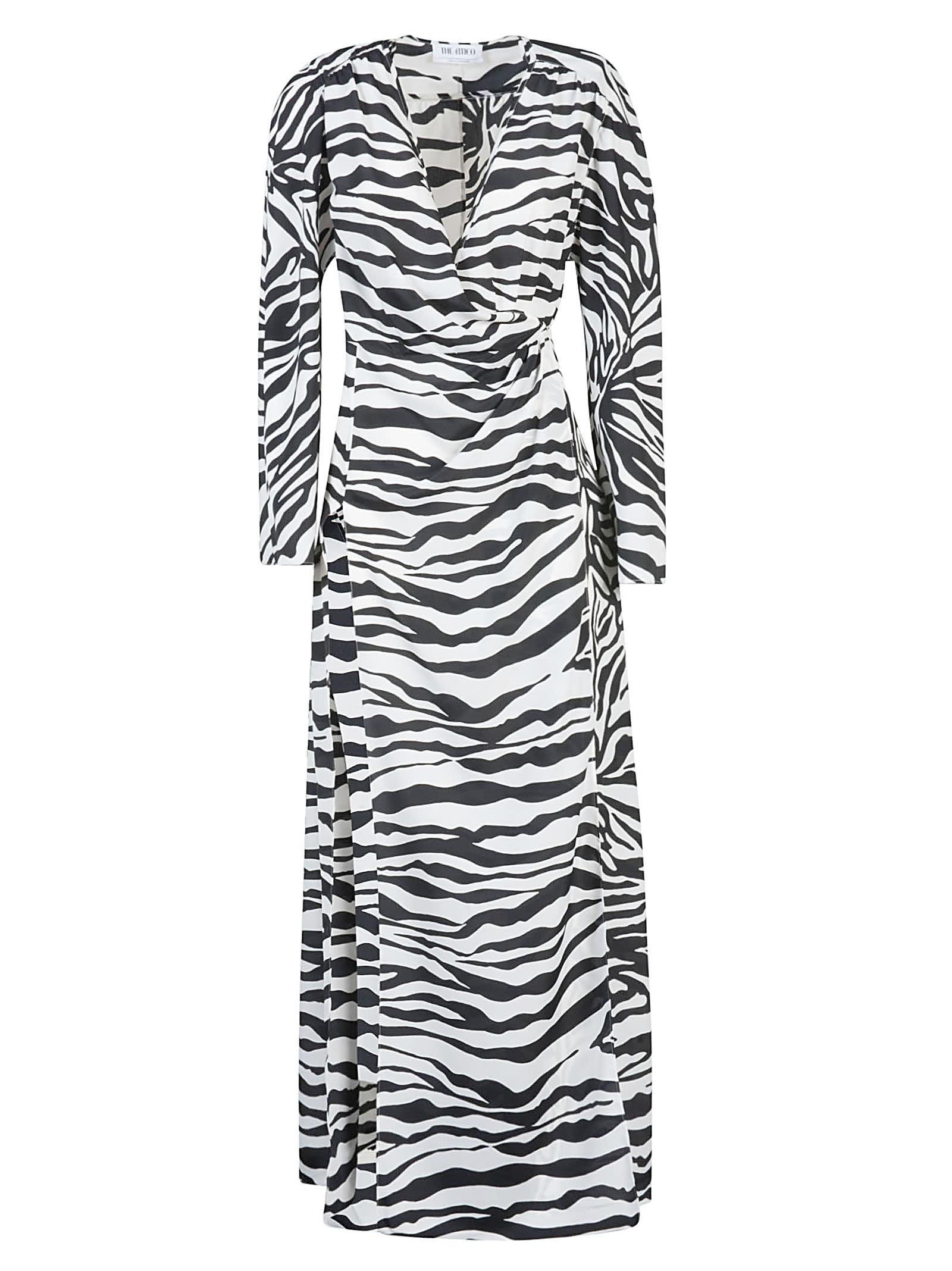 Buy The Attico Zebra Print Maxi Dress online, shop The Attico with free shipping