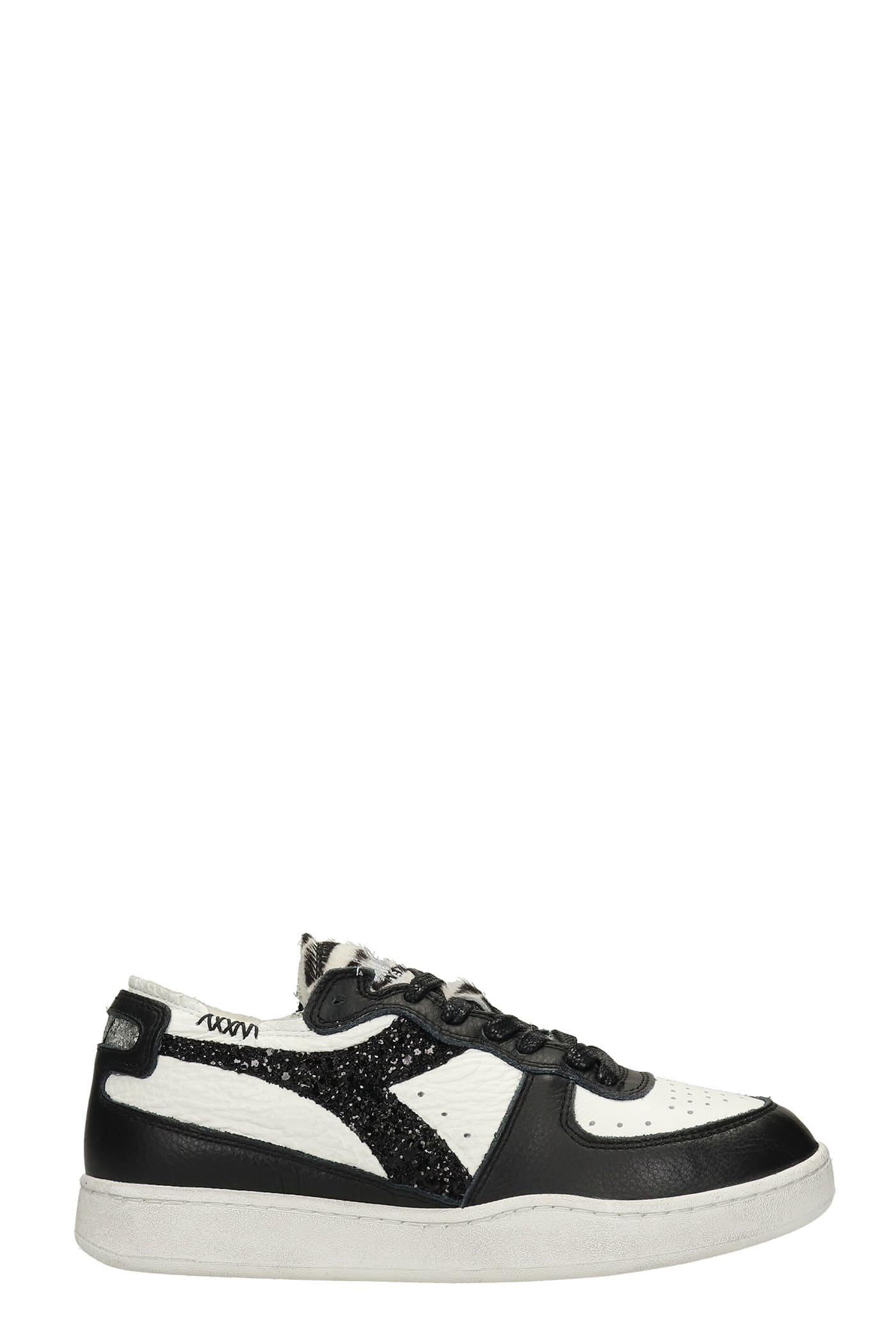 Mi Basket Sneakers In Black Leather