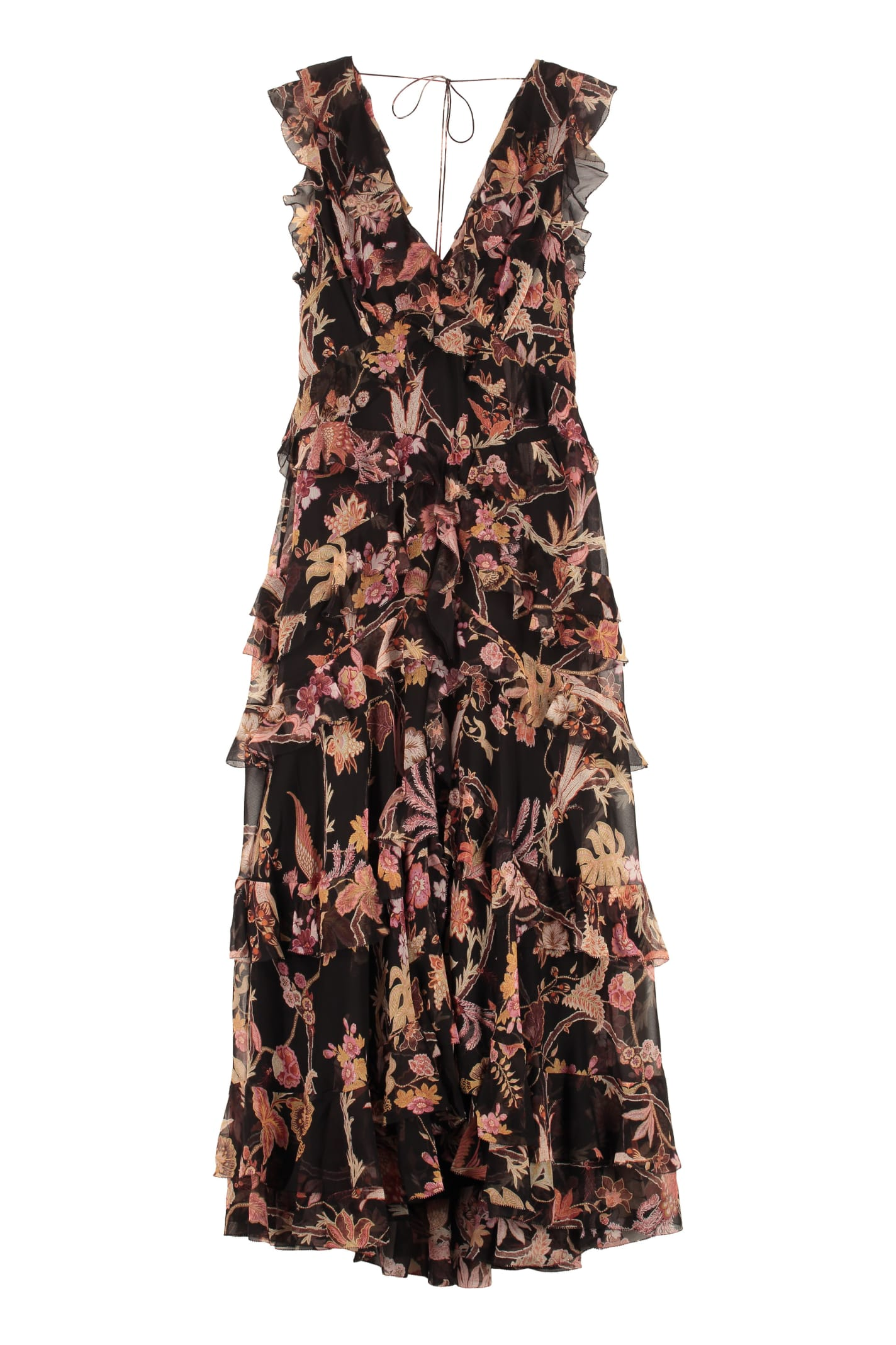 Buy Zimmermann Printed Georgette Dress online, shop Zimmermann with free shipping