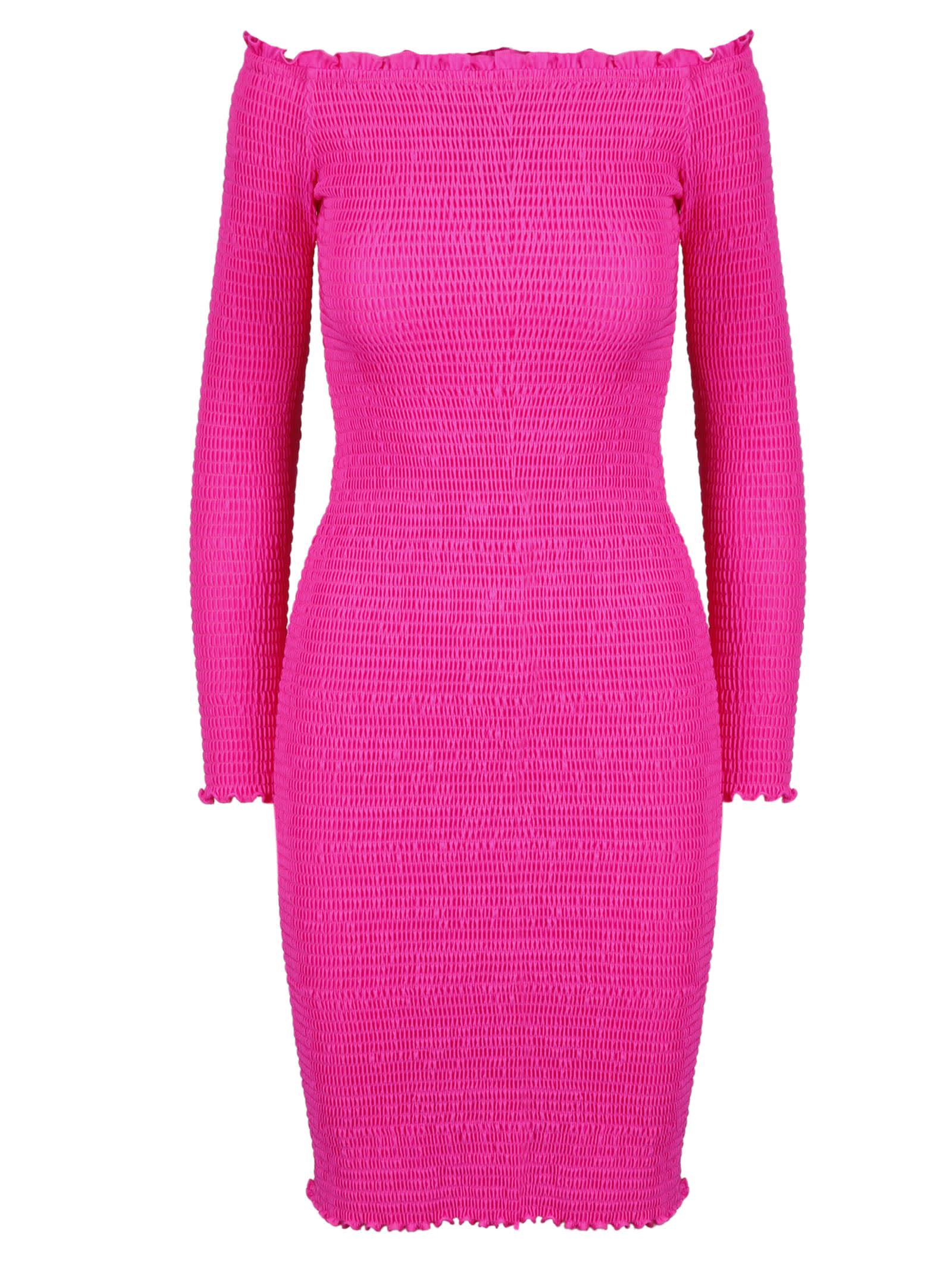 Buy Balenciaga Smocked Mini Dress online, shop Balenciaga with free shipping