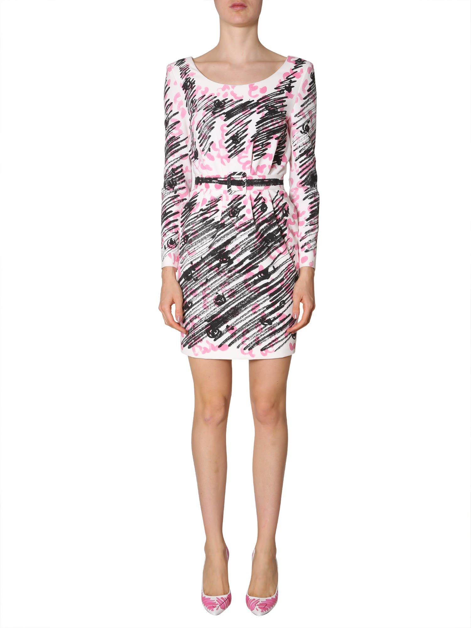 Buy Moschino Brushstroke-print Dress online, shop Moschino with free shipping