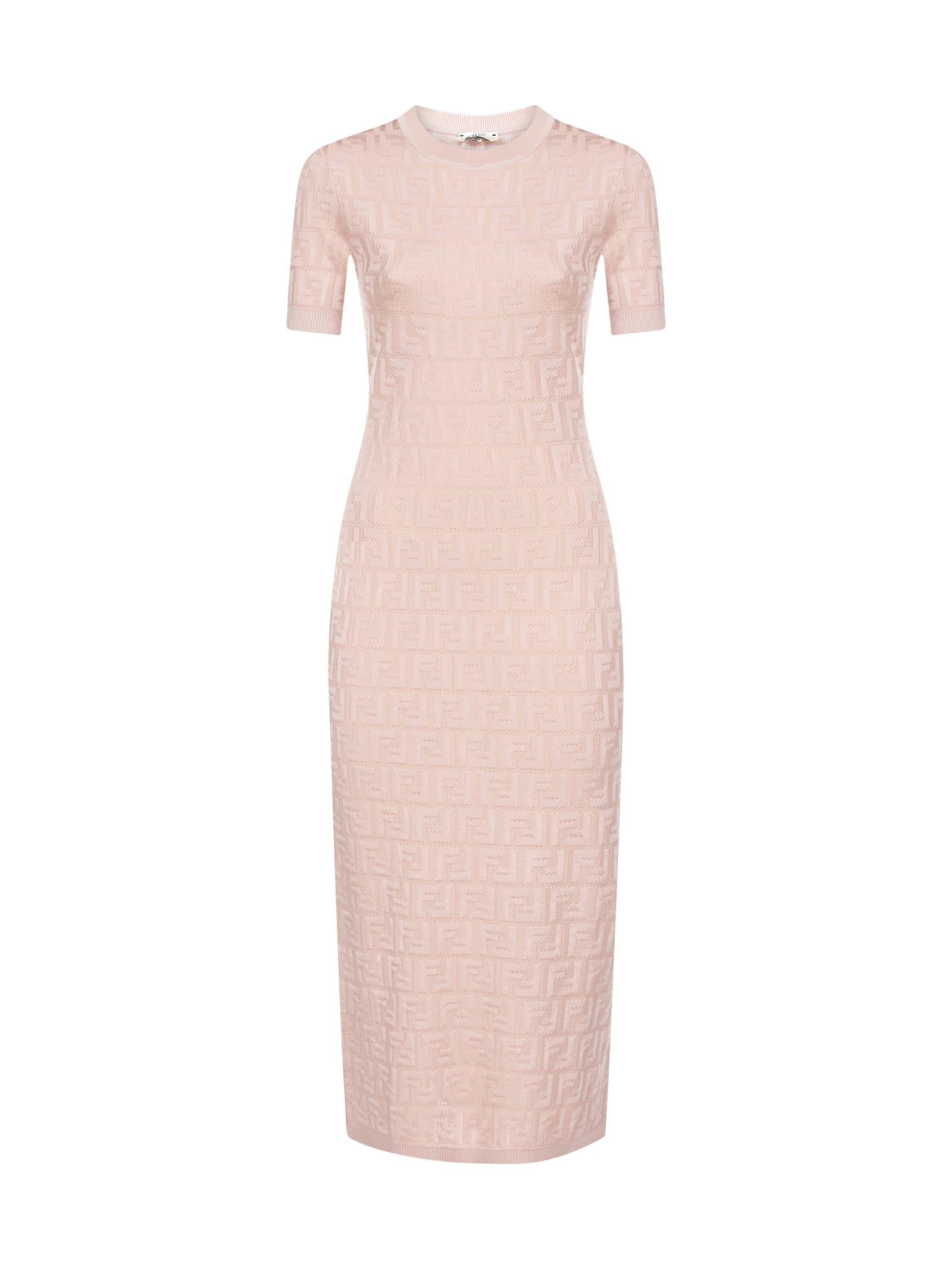 Buy Fendi Short Sleeves Ff Dress online, shop Fendi with free shipping