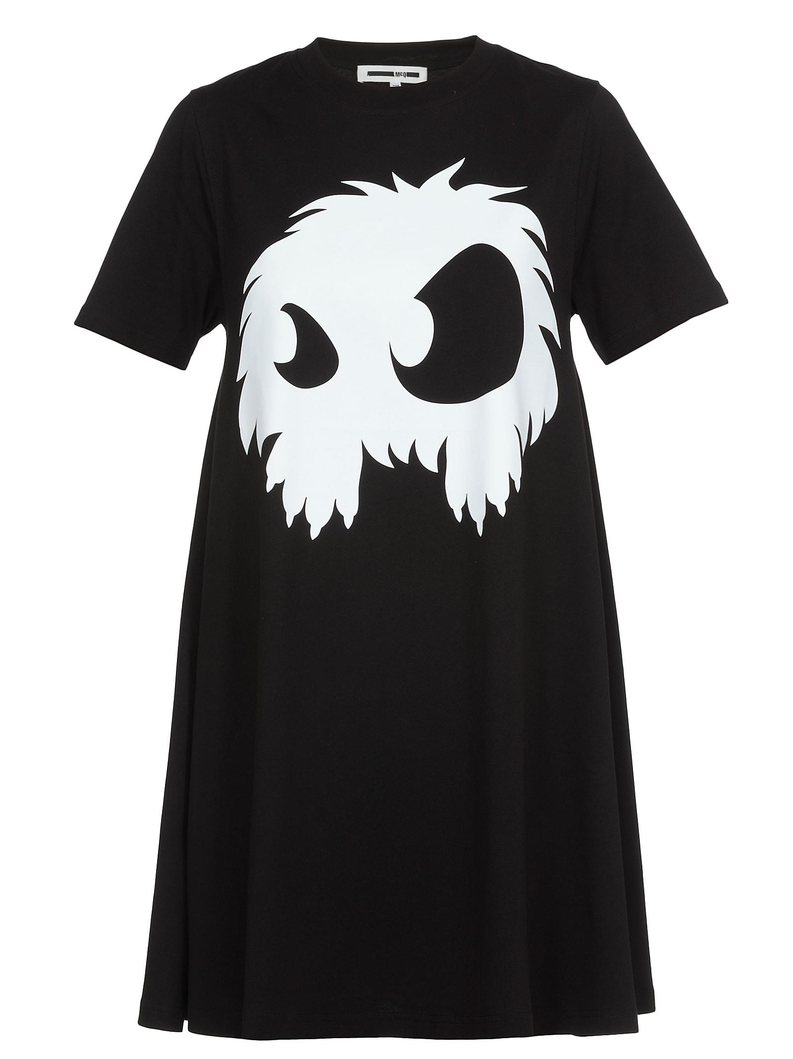 McQ Alexander McQueen Dress Monster Print