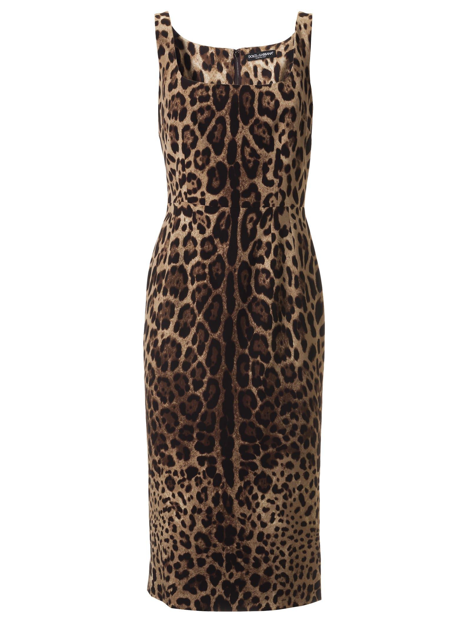 Dolce & Gabbana Leopard All-over Dress