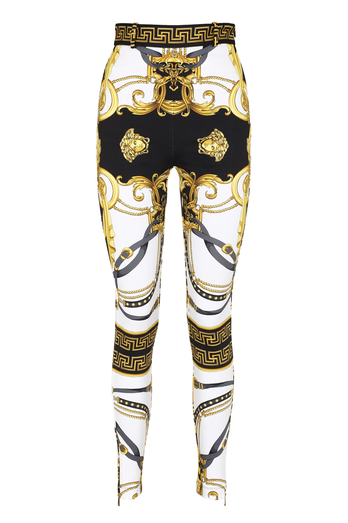 Versace Stretch Trousers With Zippered Ankle Cuff