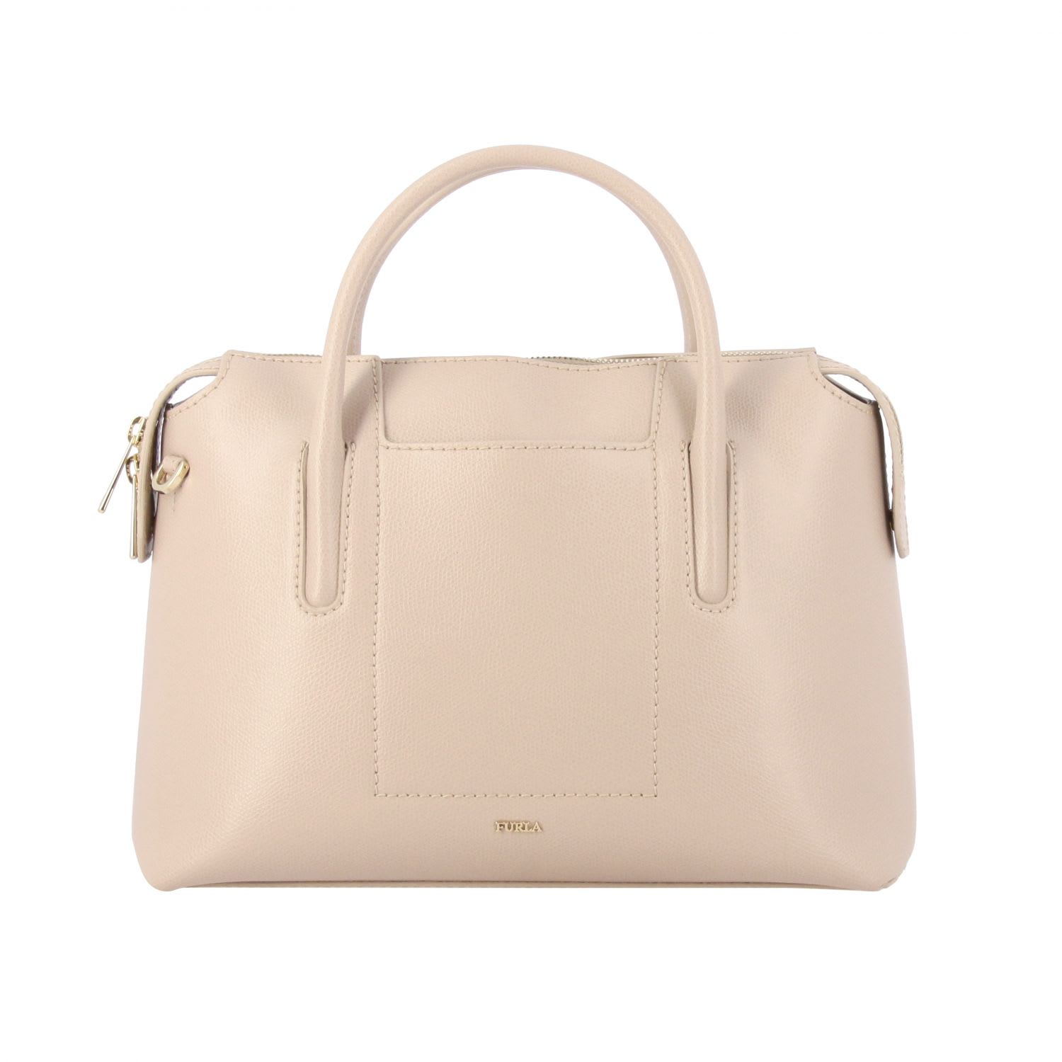 Furla Handbag Ares Furla Bag In Textured Leather With Double Handles