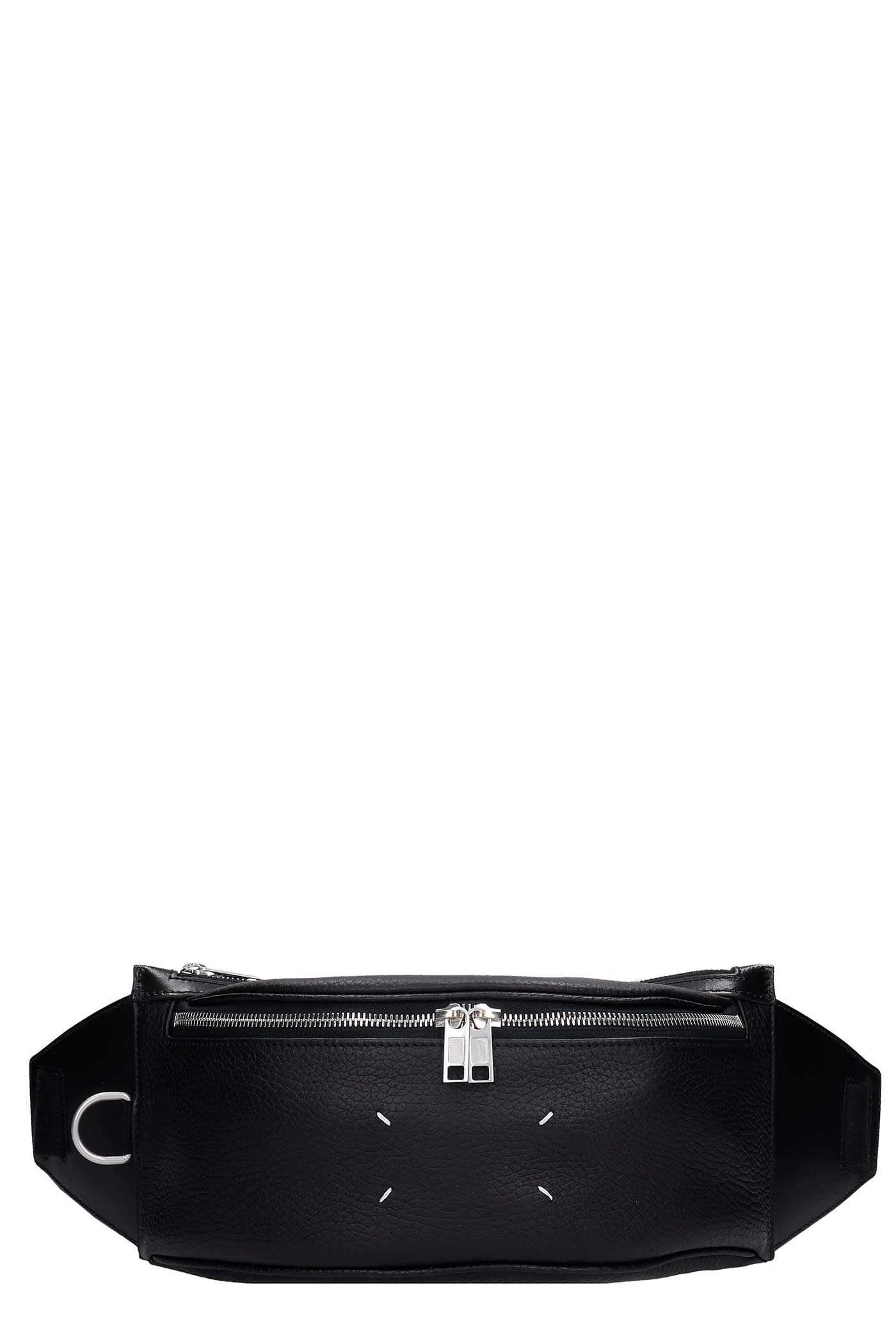 Maison Margiela Waist Bag In Black Leather