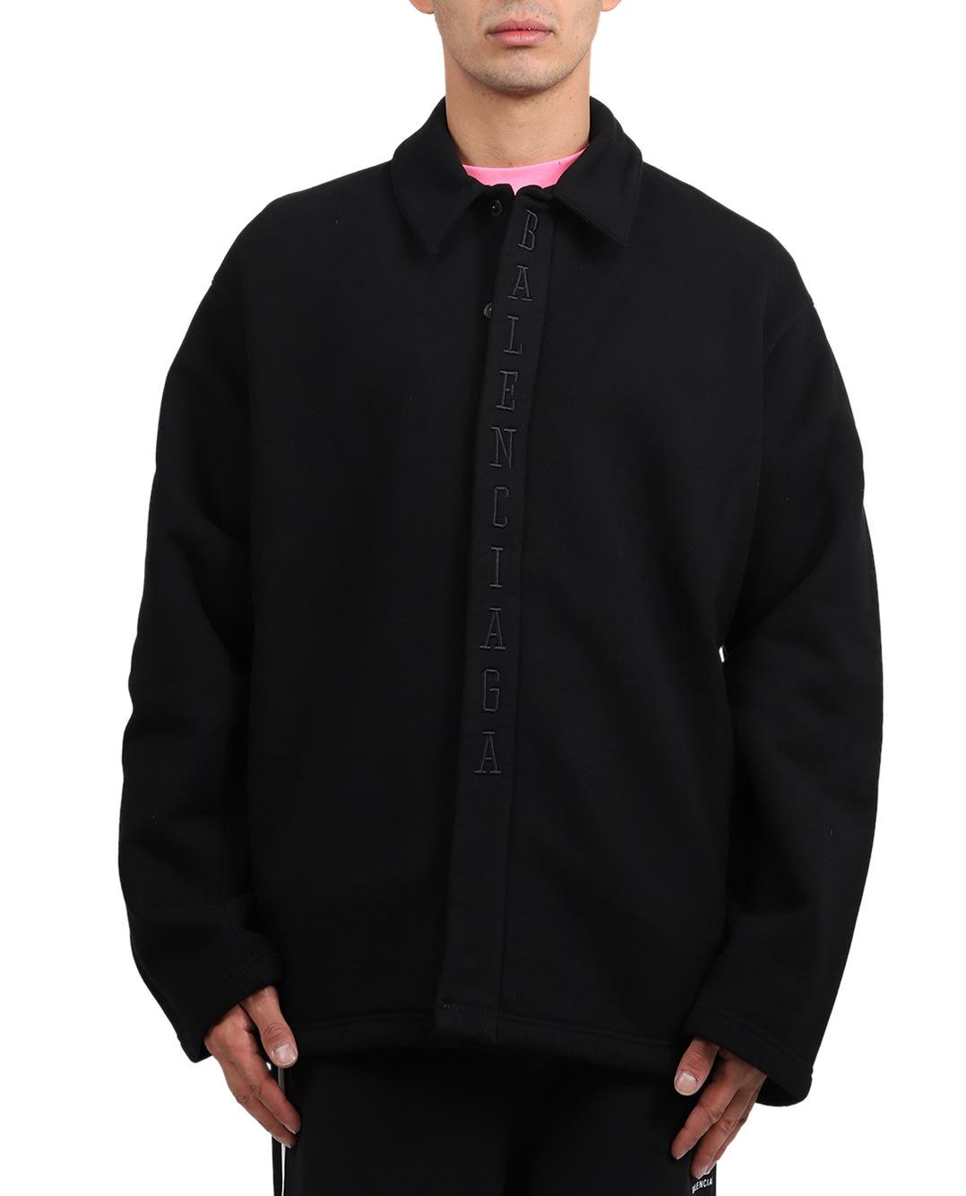 BALENCIAGA BLACK BASKETBALL COCOON SHIRT