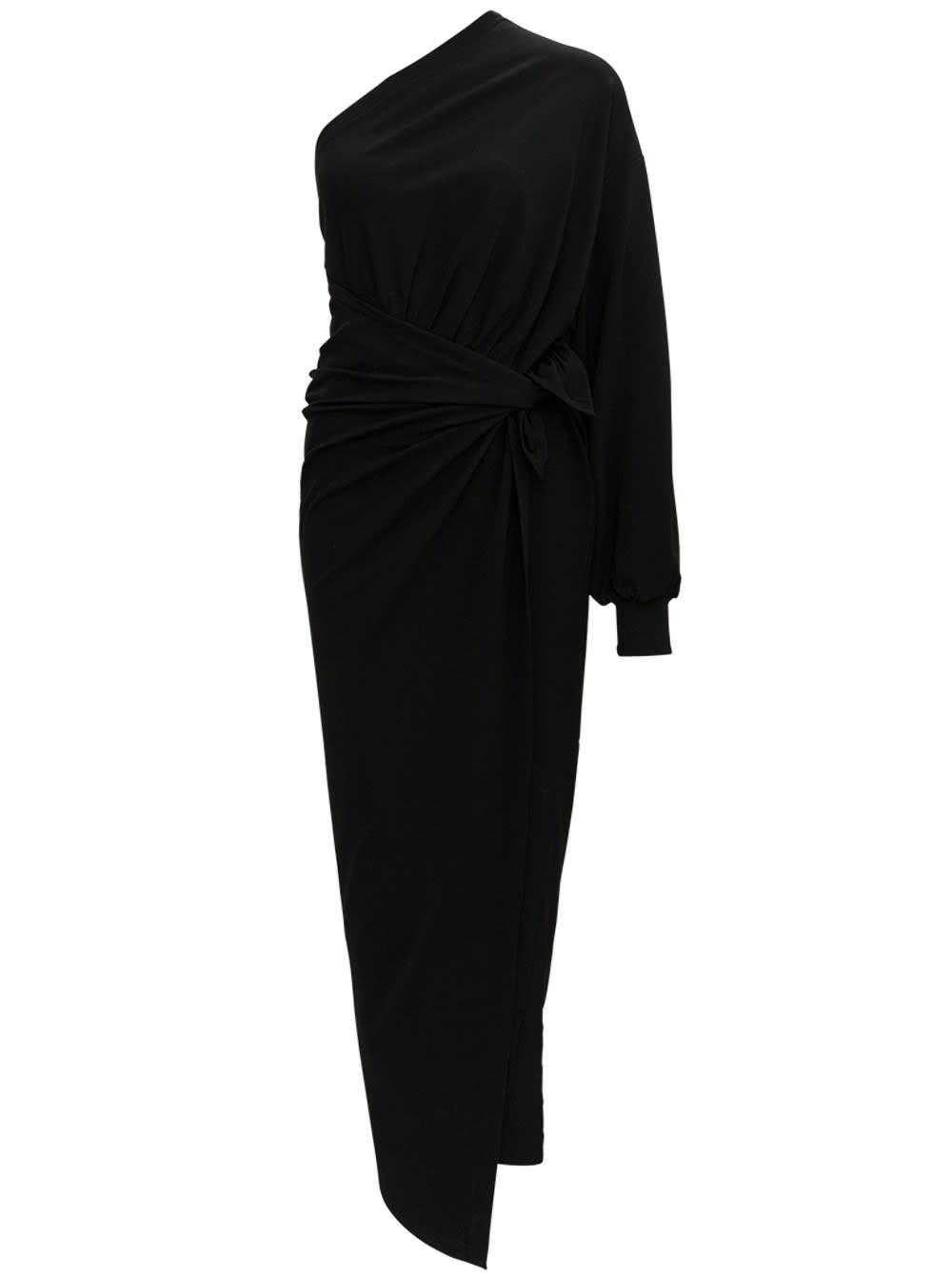 Balenciaga Viscose Long Body Wrap Dress