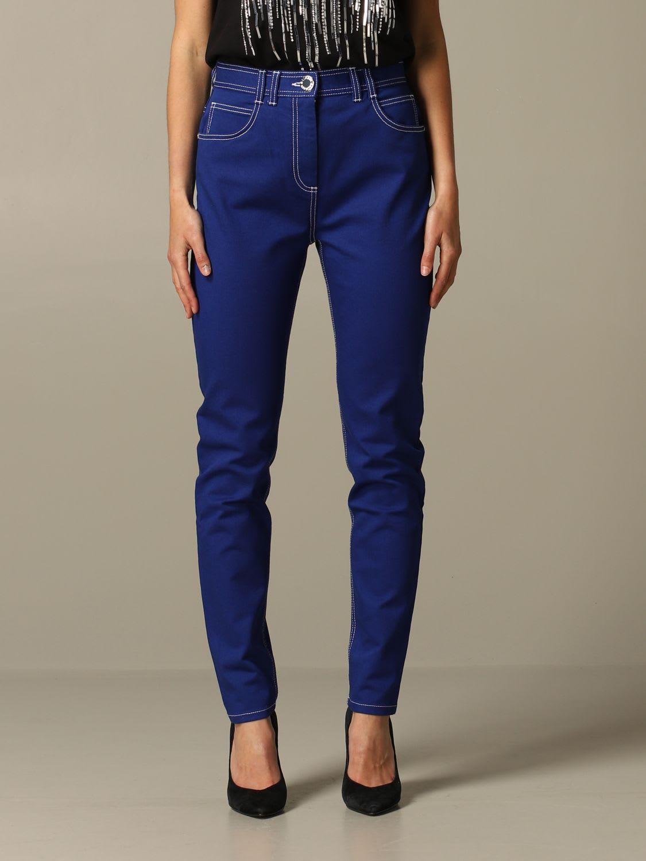 Balmain Pants Balmain Trousers With High Waist With Logo