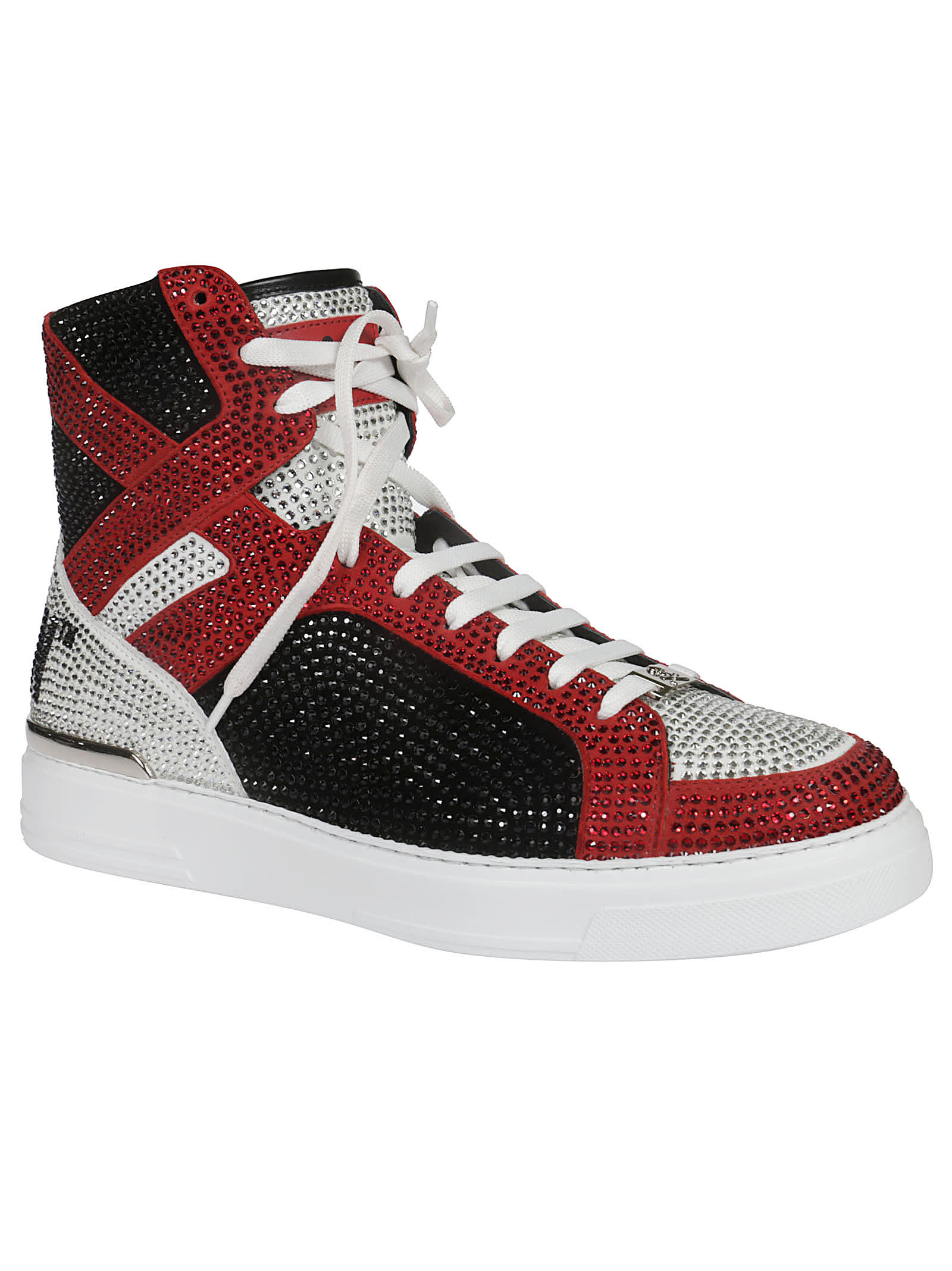 Best price on the market at italist | Philipp Plein Philipp Plein Embellished Hi top Sneakers