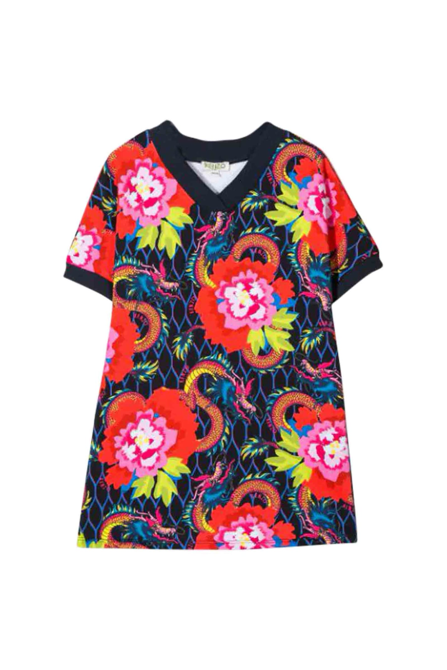 Buy Kenzo Style Dress T-shirt Flower online, shop Kenzo with free shipping