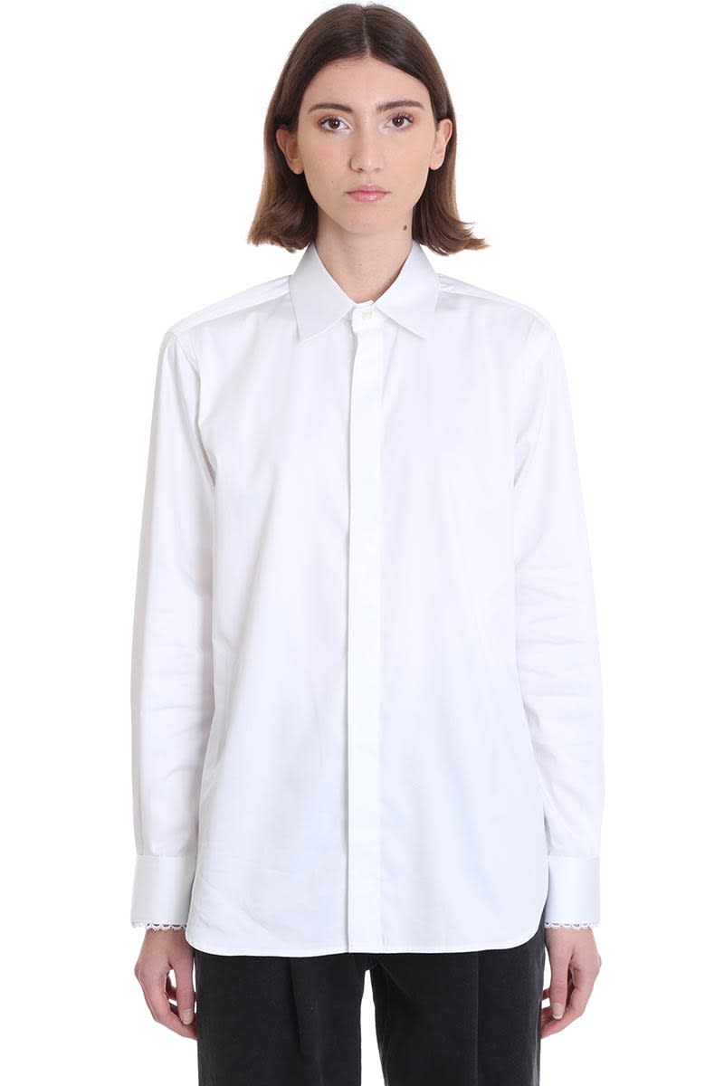 Magda Butrym Lugano Shirt In White Cotton