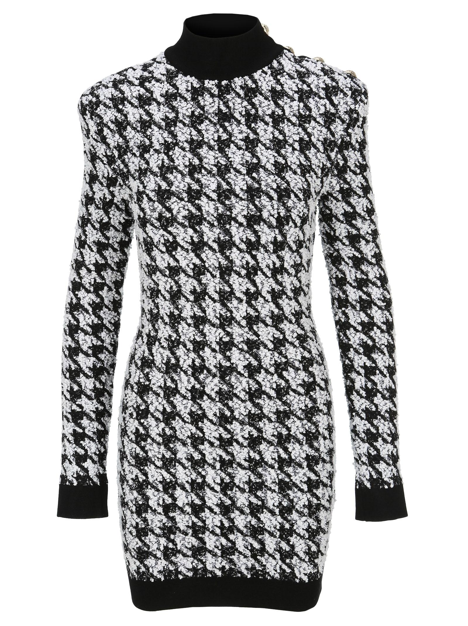 Balmain Pied De Poule Mini Dress