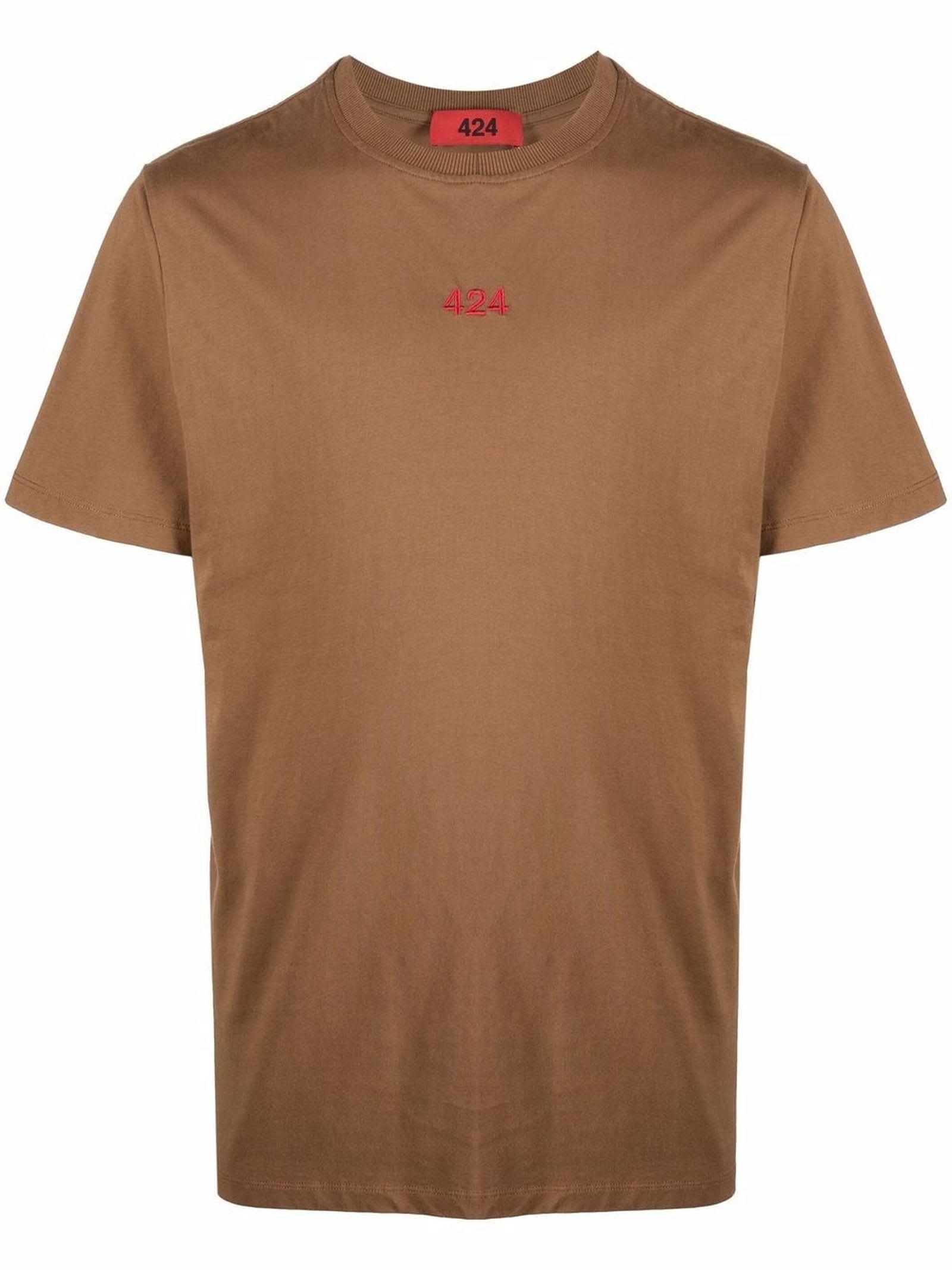 Brown Cotton T-shirt