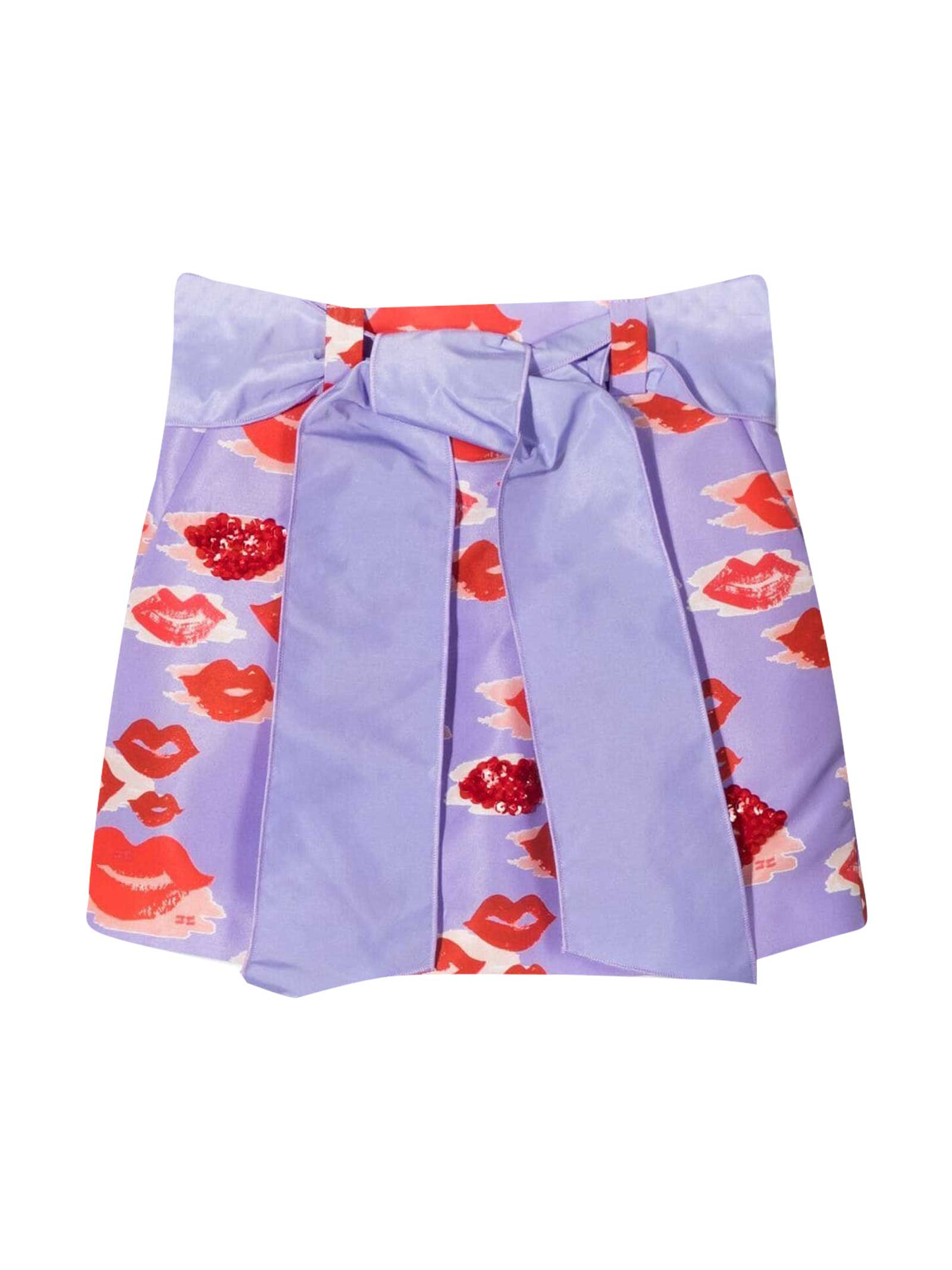 Miniskirt With Elisabetta Franchi My Girl Print