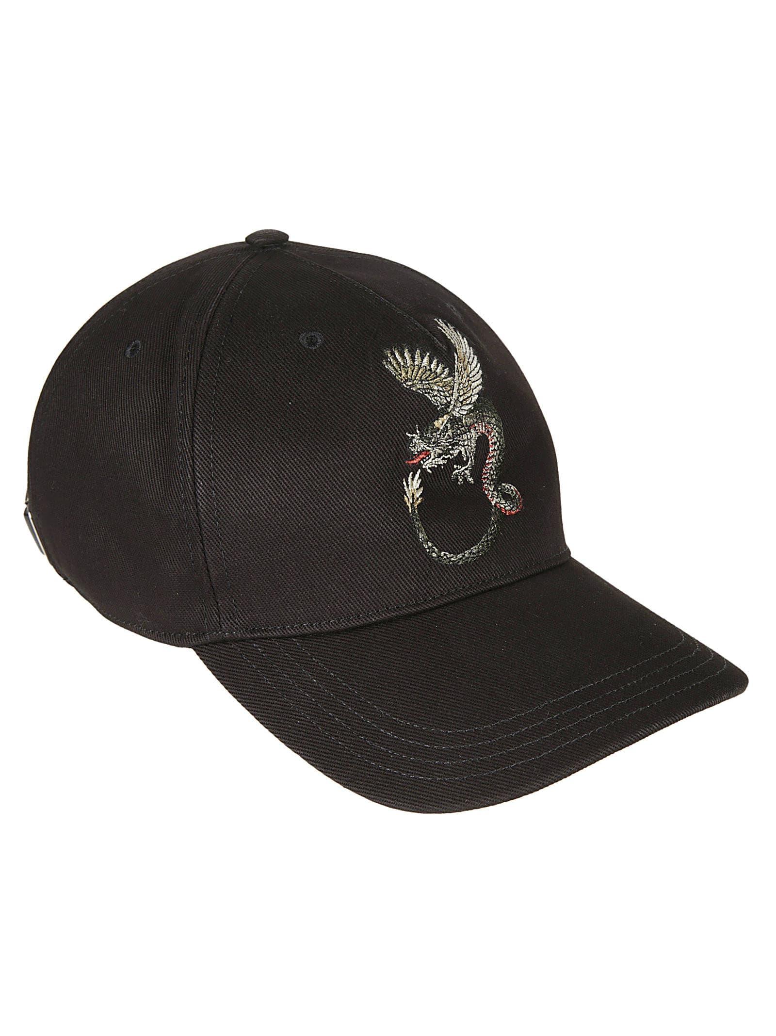 Alexander Mcqueen Hats DRAGON EMBLEM CAP